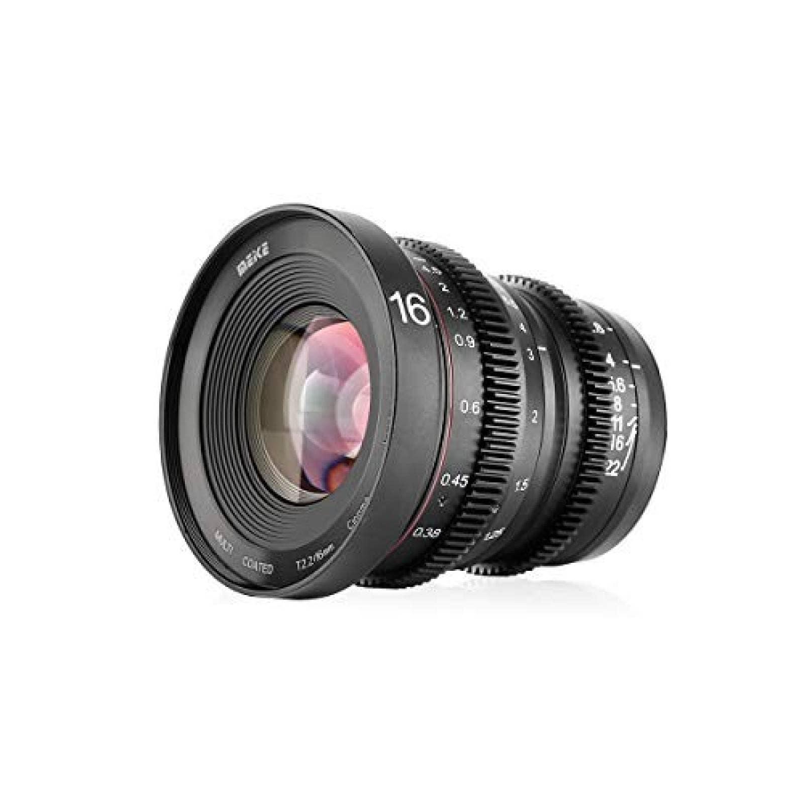 Lente de cámara Meike 16mm T2.2 cámara Panasonic Lumix negro