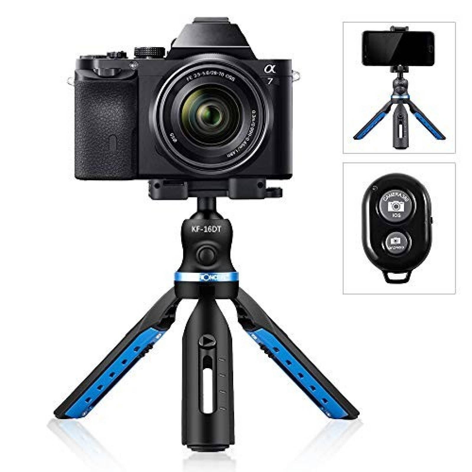 Mini trípode K&FConcept smartphone GoPro webcam -negro