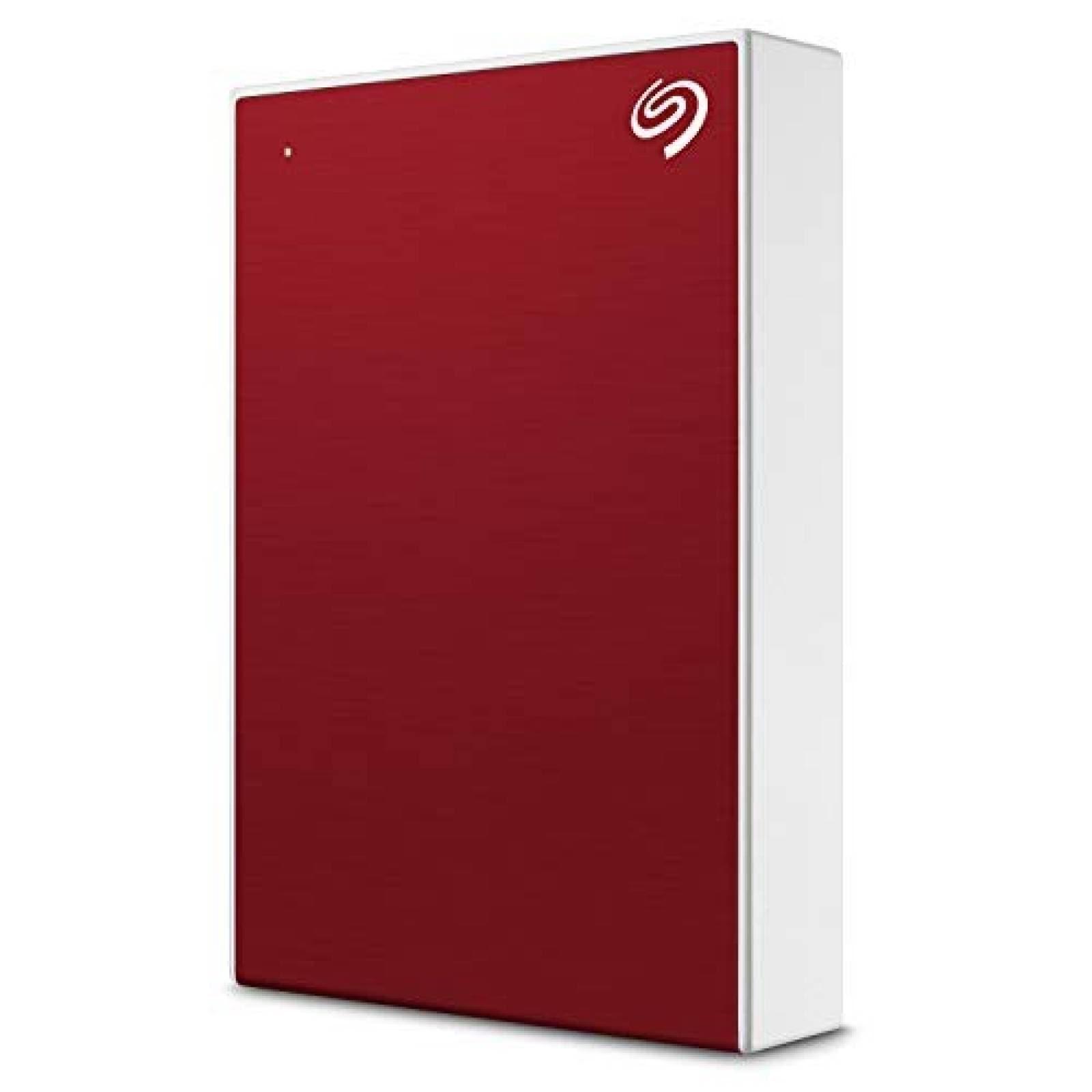 Disco duro externo Seagate Backup Plus 4TB -rojo