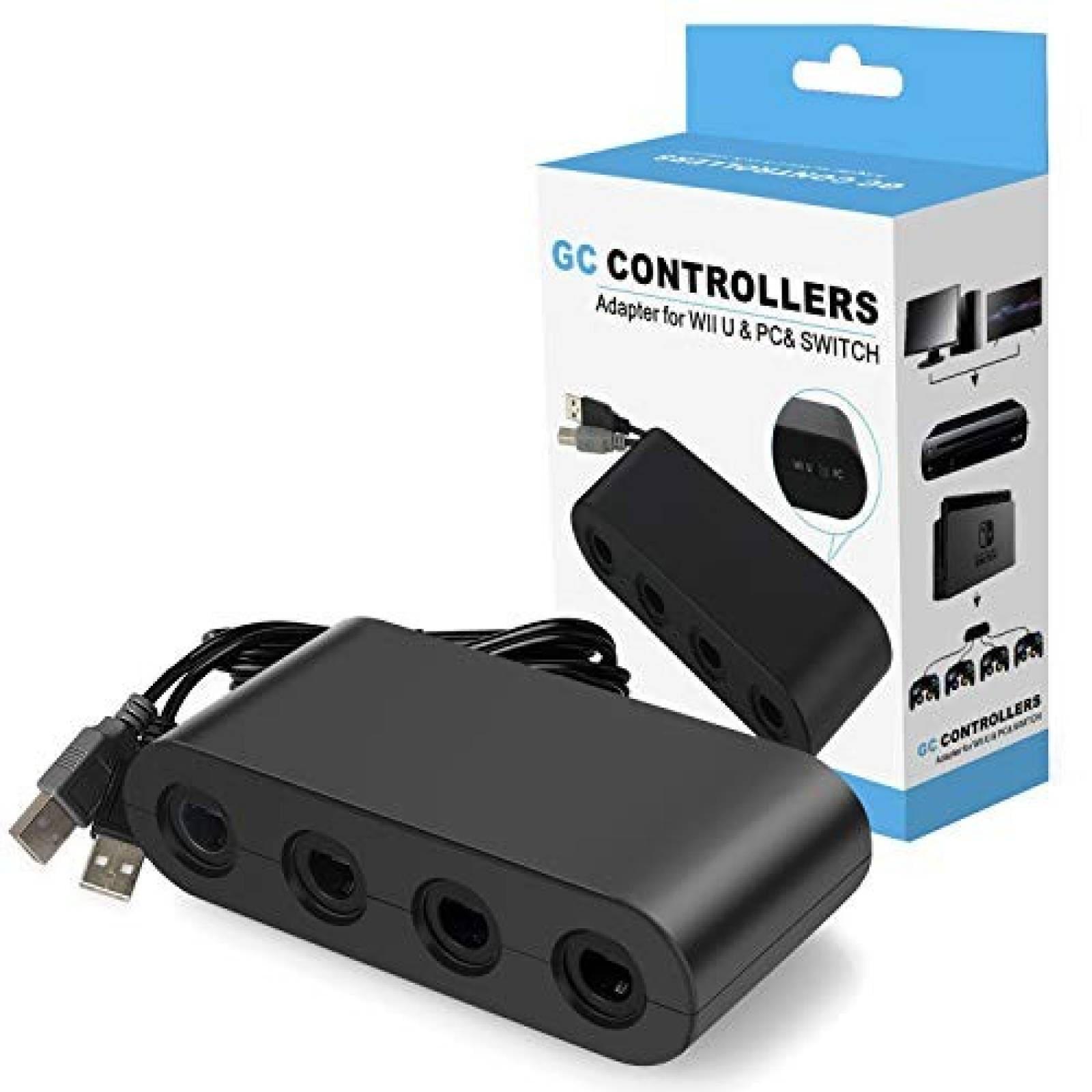 Adaptador control Gamecube para Wii YTeam 4 puertos -negro