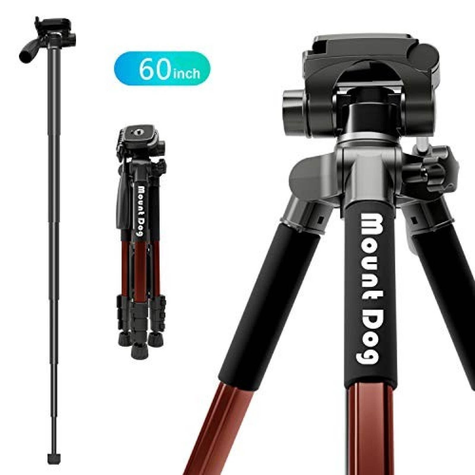 Trípode y monopod MOUNTDOG 60'' 360º para cámara -Naranja