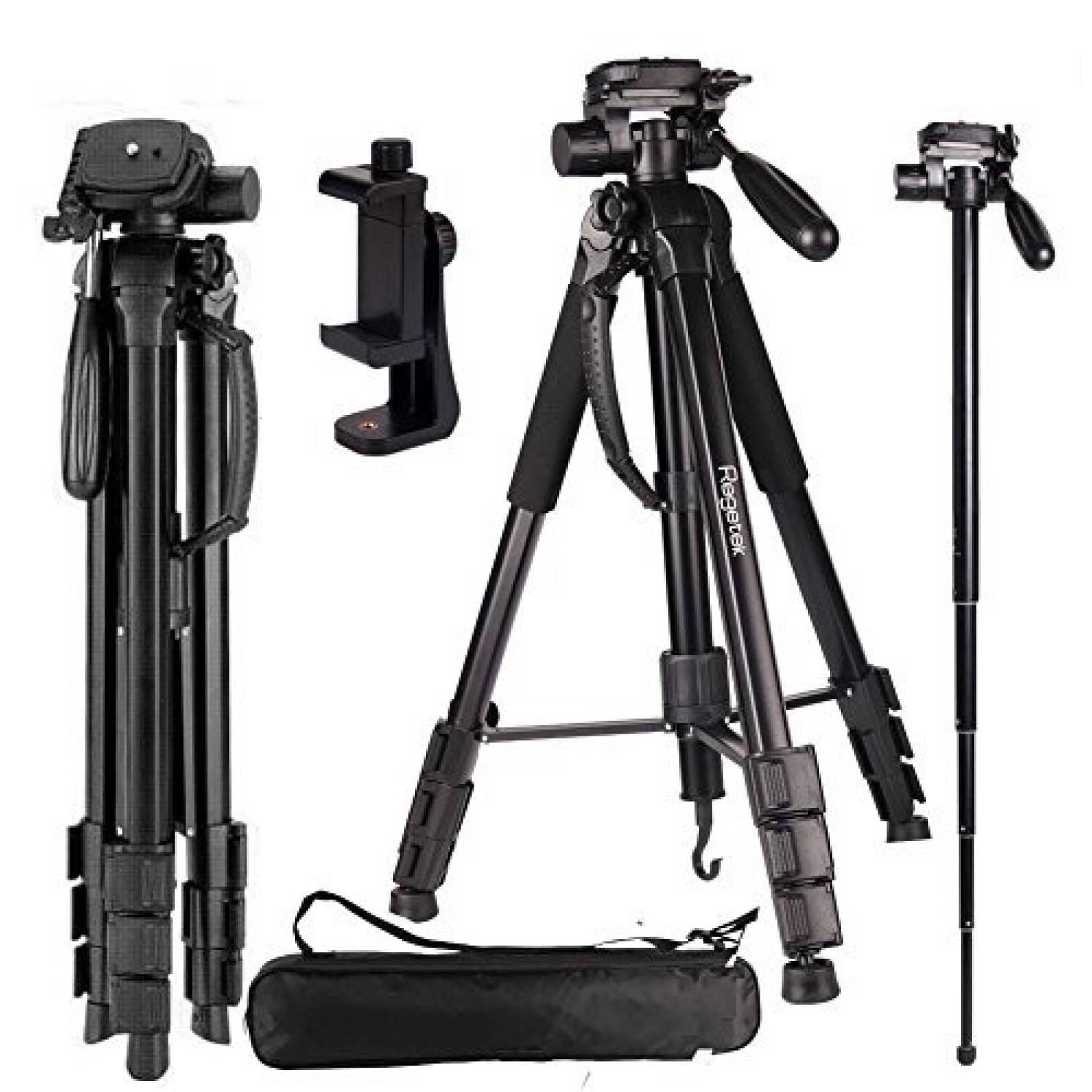 Trípode de viaje para cámara de vídeo Regetek Aluminio