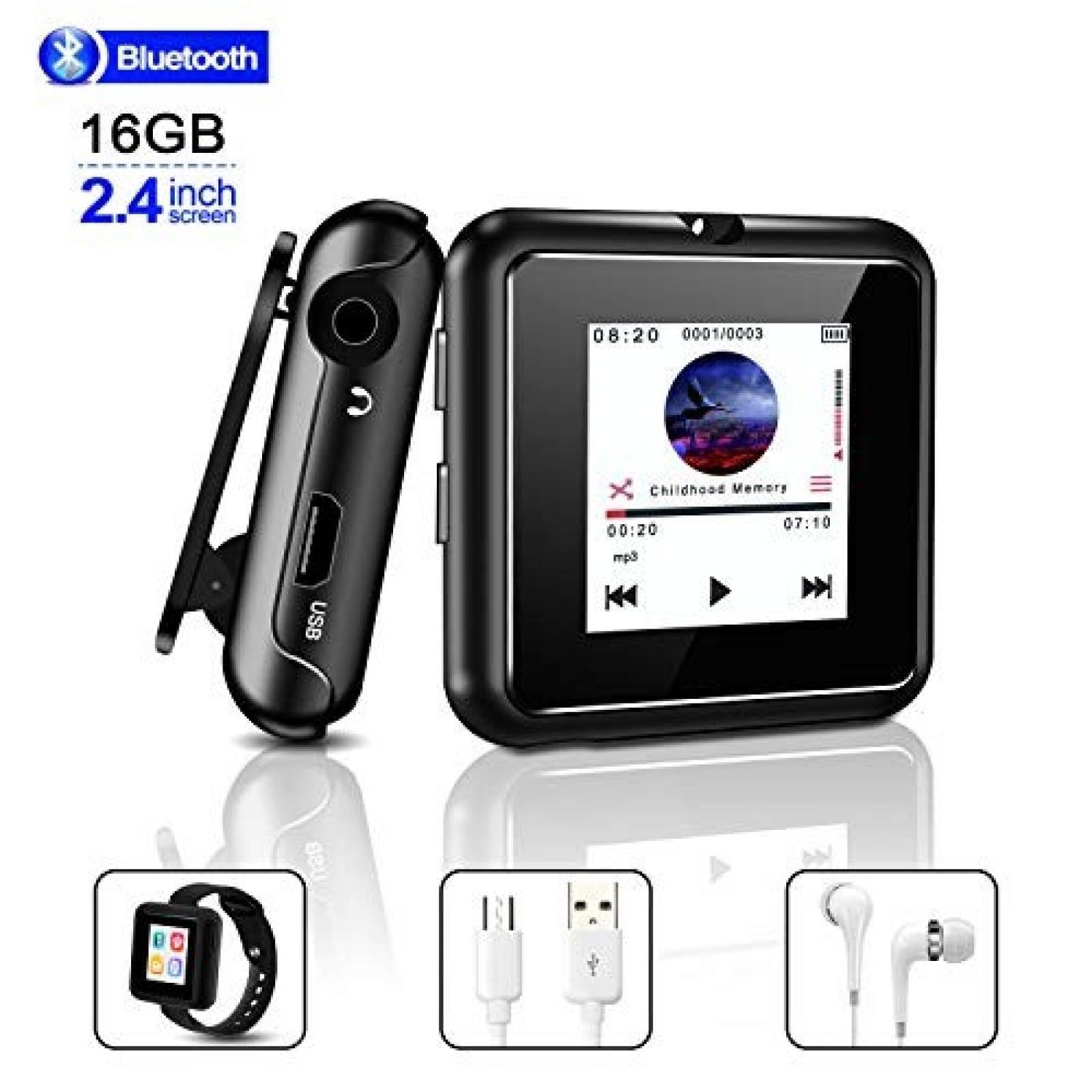 Reproductor MP3 HOCOMO 16GB Bluetooth 4.2 Pantalla Touch