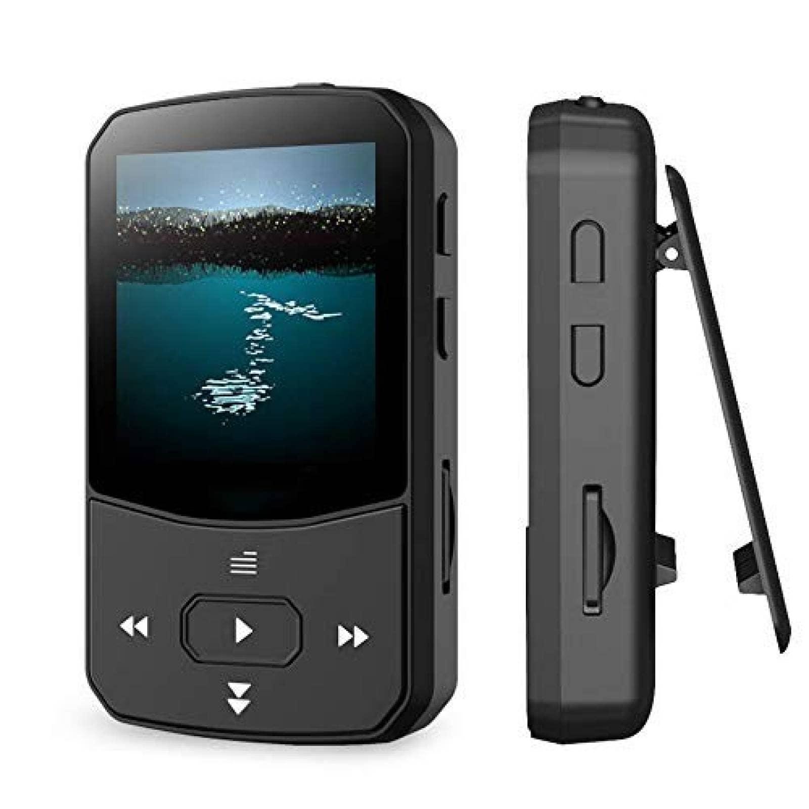 Reproductor MP3 RUIZU 16GB con Bluetooth 4.1 Radio FM -Negro