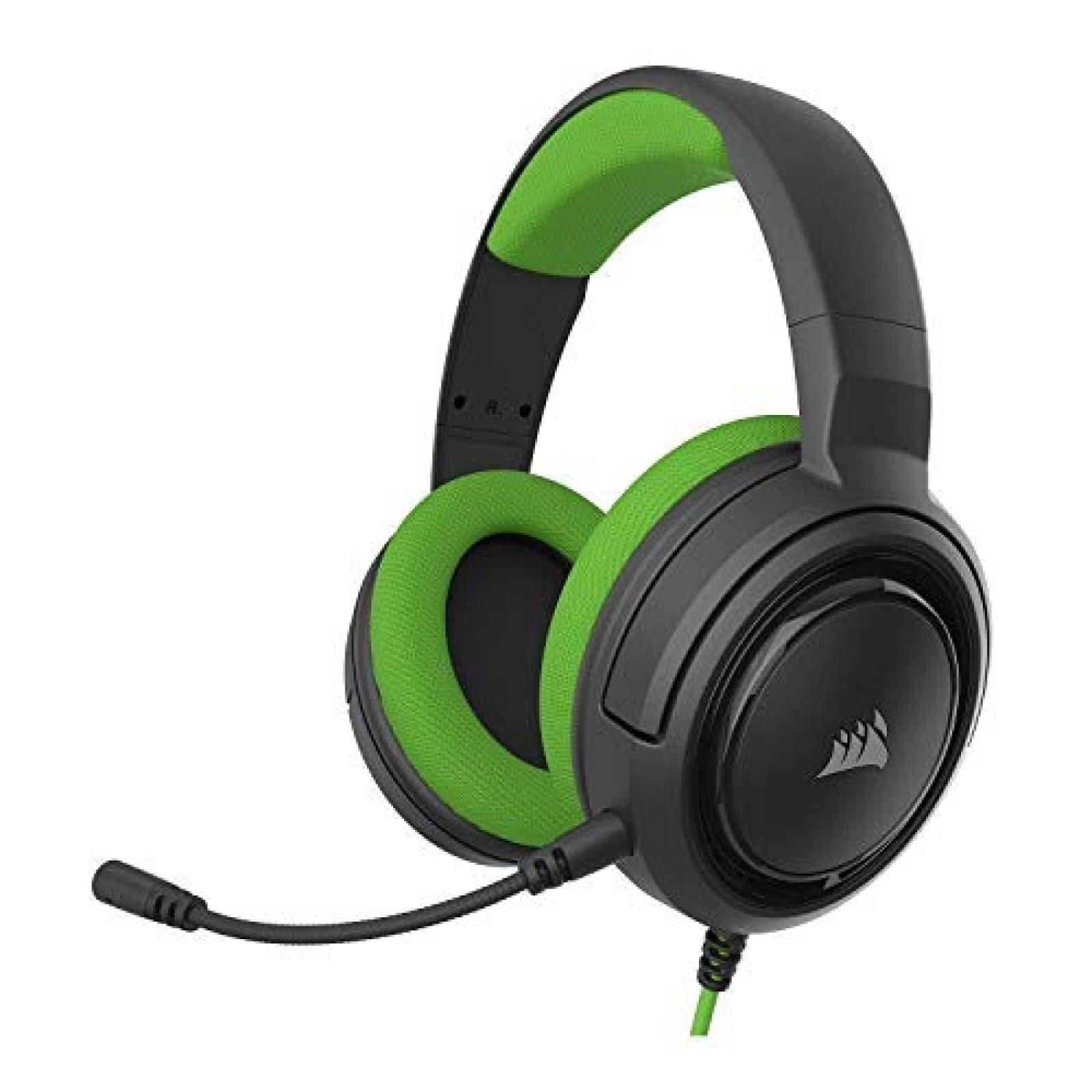 Auriculares gamer Corsair HS35 Stereo con micrófono -Verde