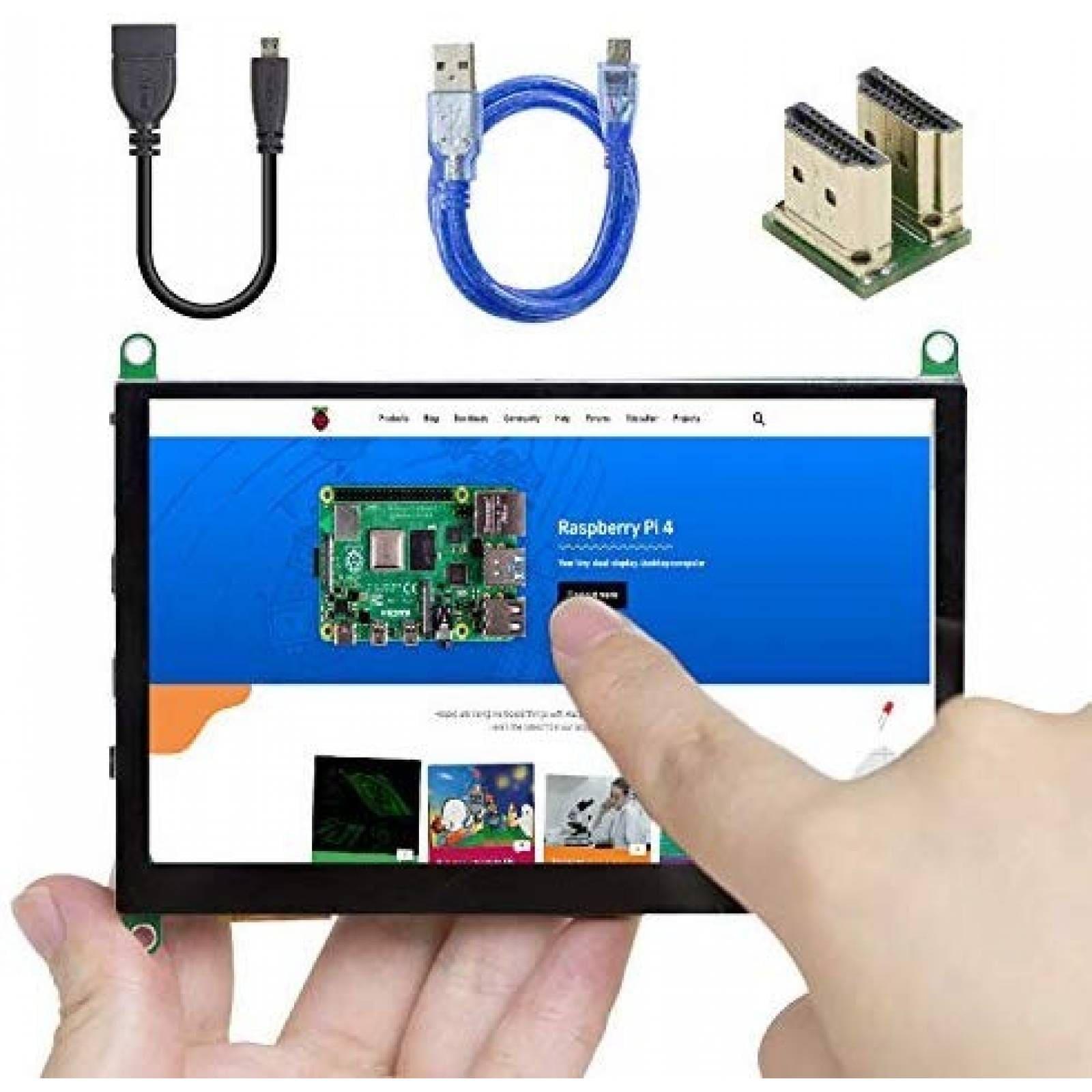 Pantalla táctil UCTRONICS p/Raspberry Pi micro adaptadorHDMI