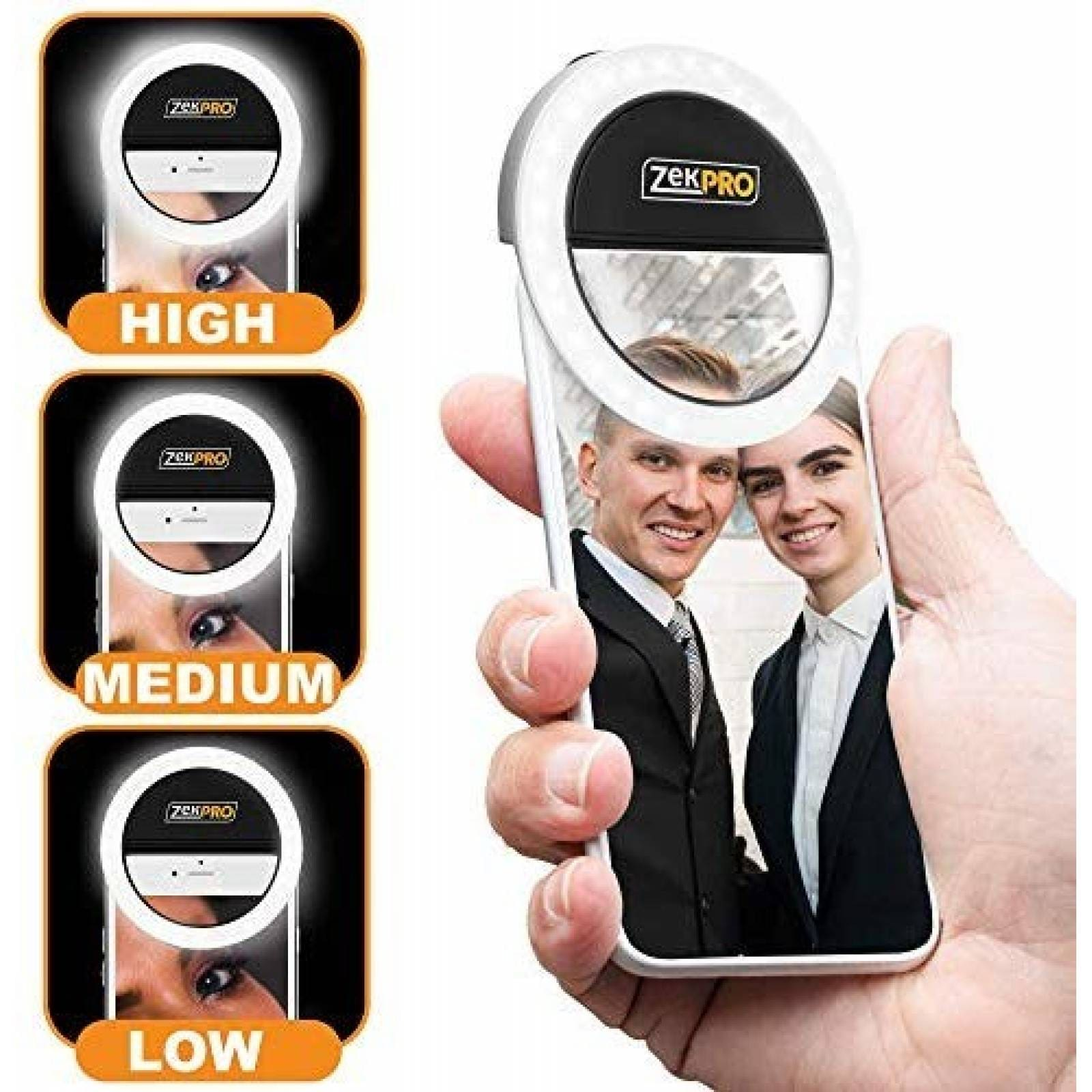 Anillo de luz iCooker ajustable 3 niveles para selfie