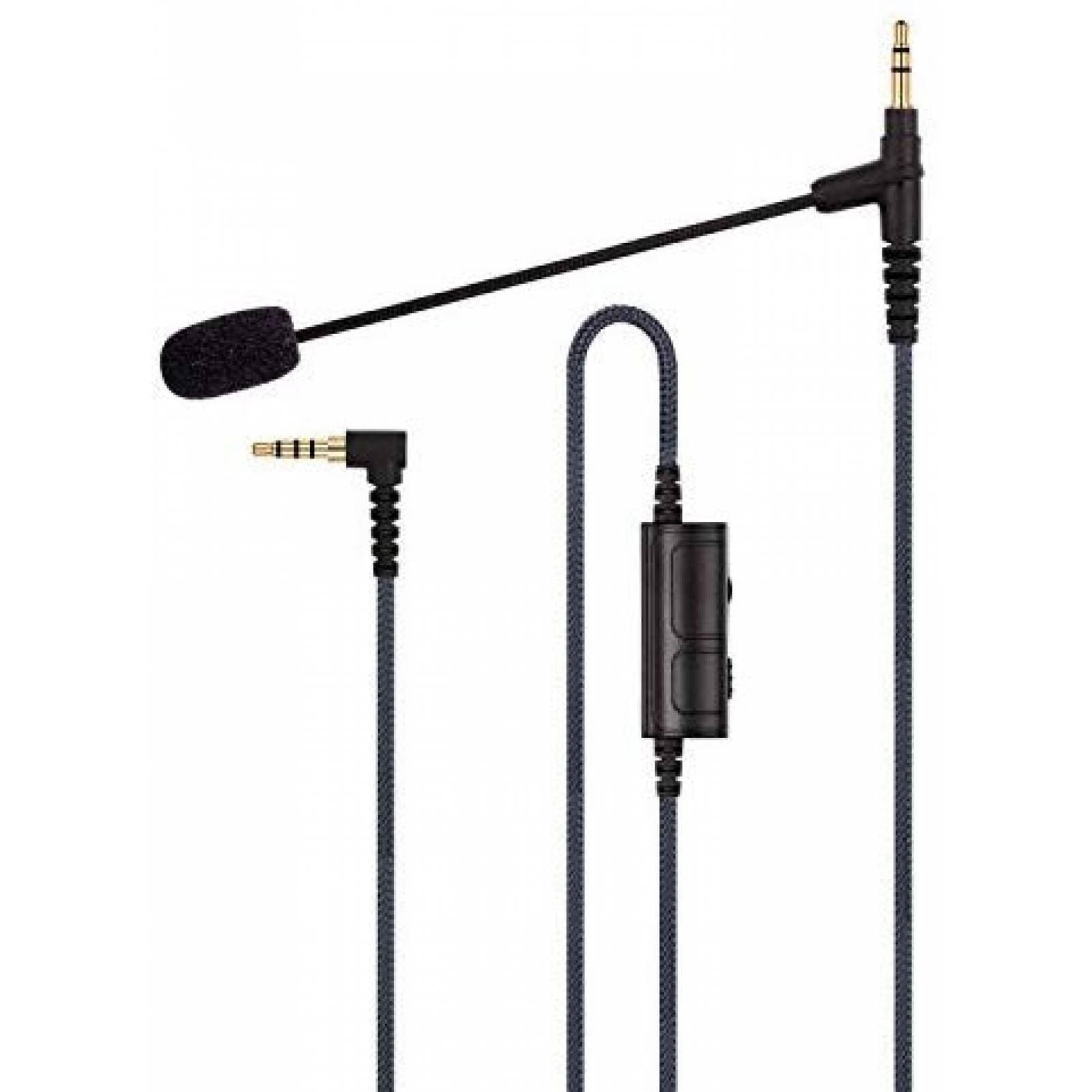 Micrófono gamer ABLET Boompro 150cm control vol jack 3.5mm