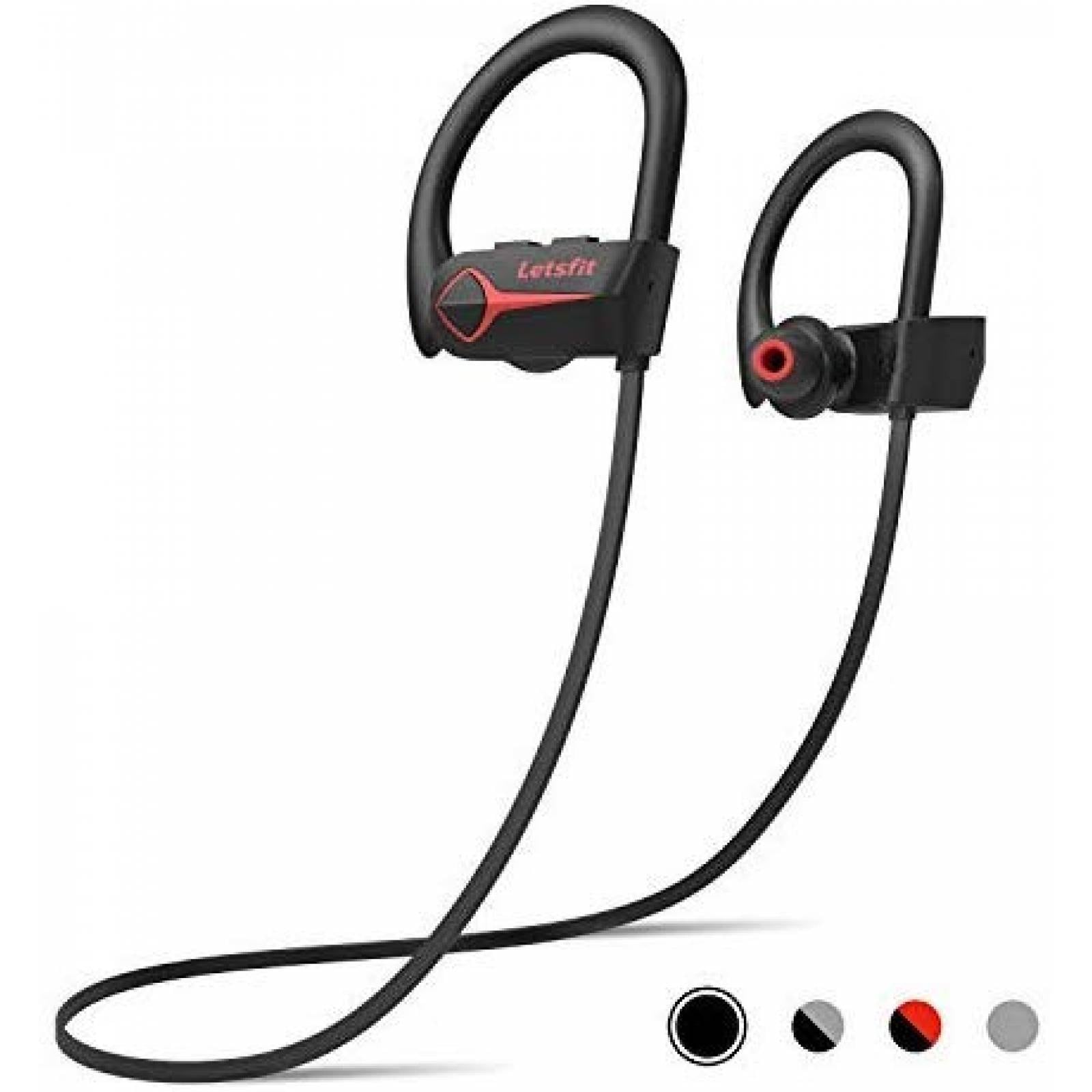 Audífonos Inalámbrico Letsfit Estéreo HiFi Contragaua -Negro
