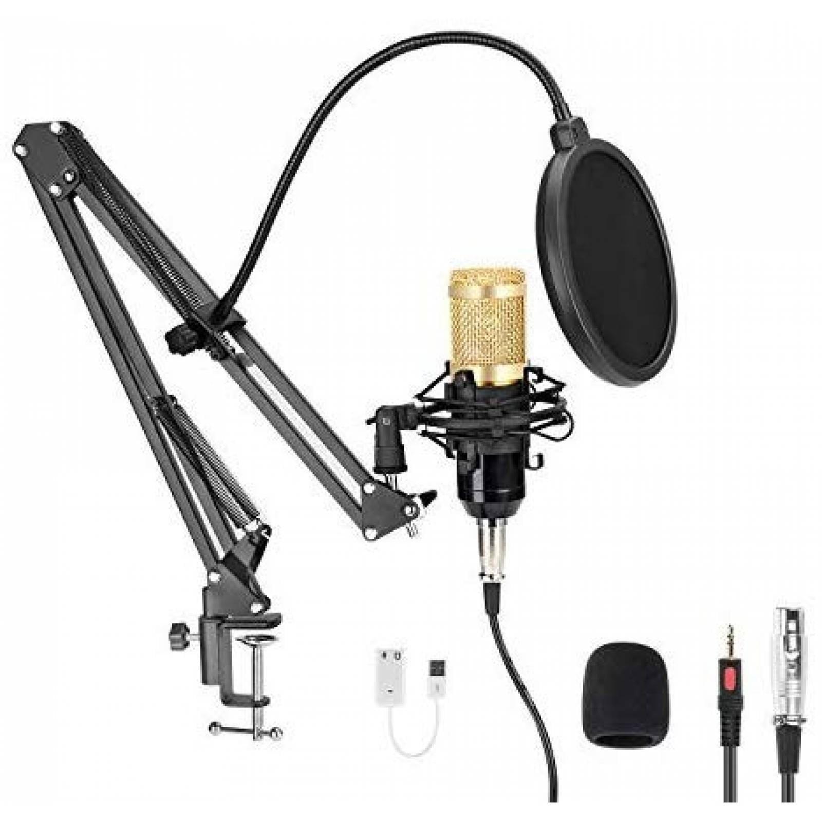 Micrófono MAYOGA de PC USB 96KHZ/24Bit con Brazo y Filtro