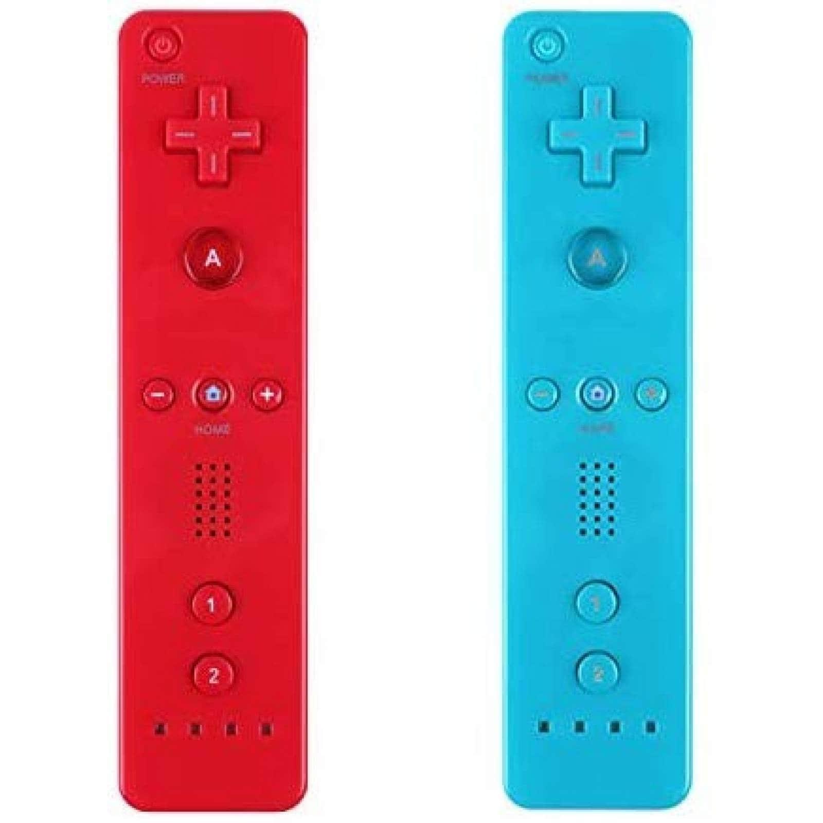 Control gamer Yosikr para wii inalámbrico -rojo/ azul