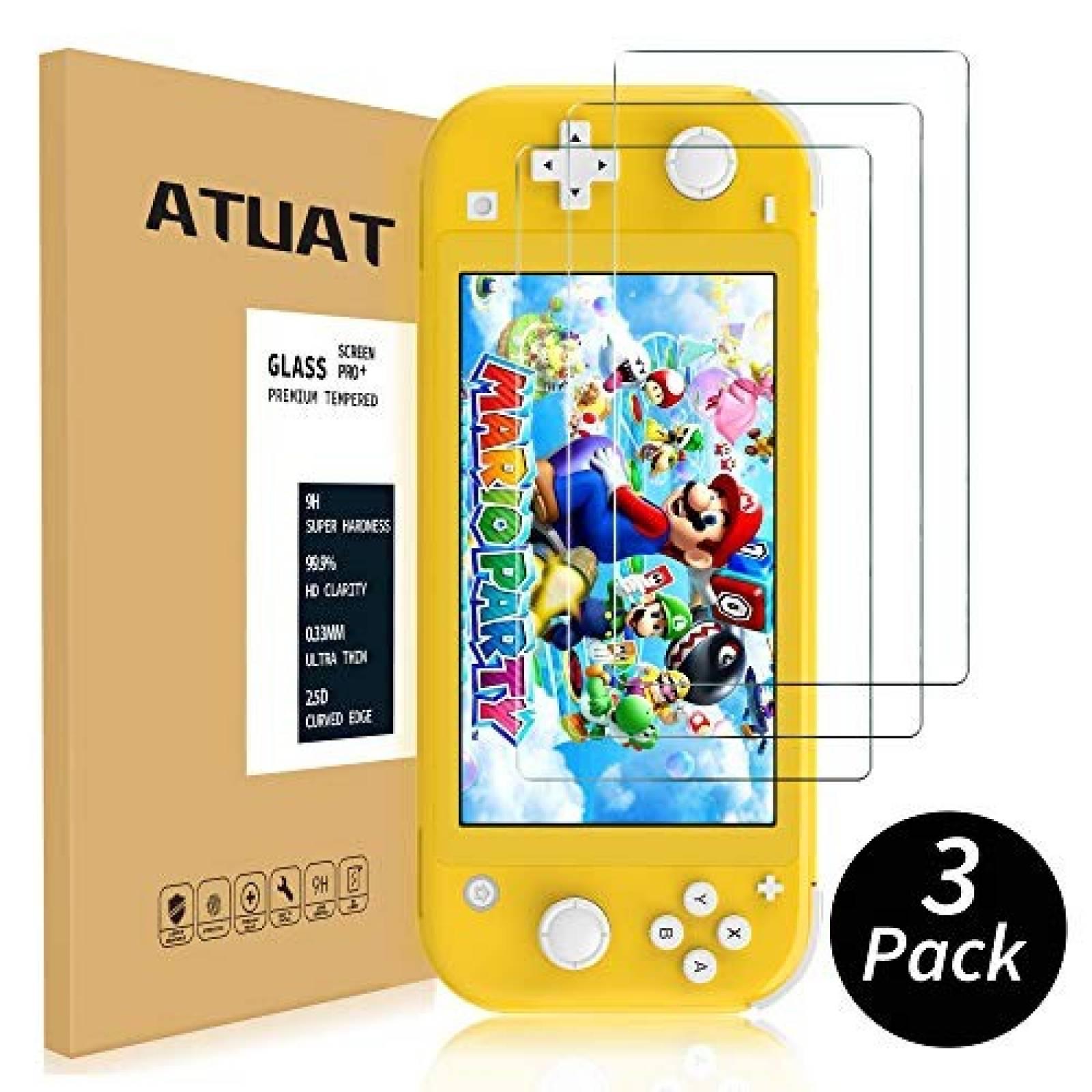 Pack protectores de pantalla ATUAT 3 pcs p/Nintendo Switch