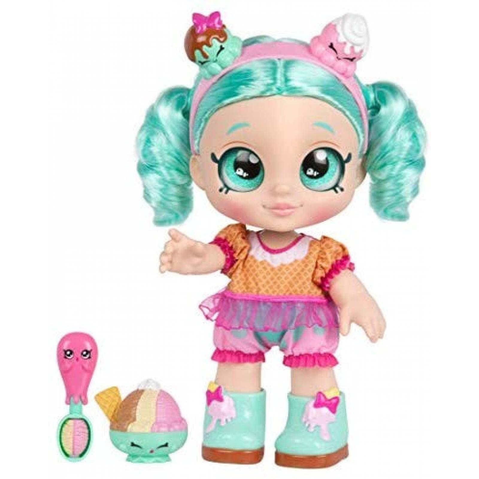 "Muñeca Kindi Kids Peppa-Mint 10"" tiempo de snack -menta"