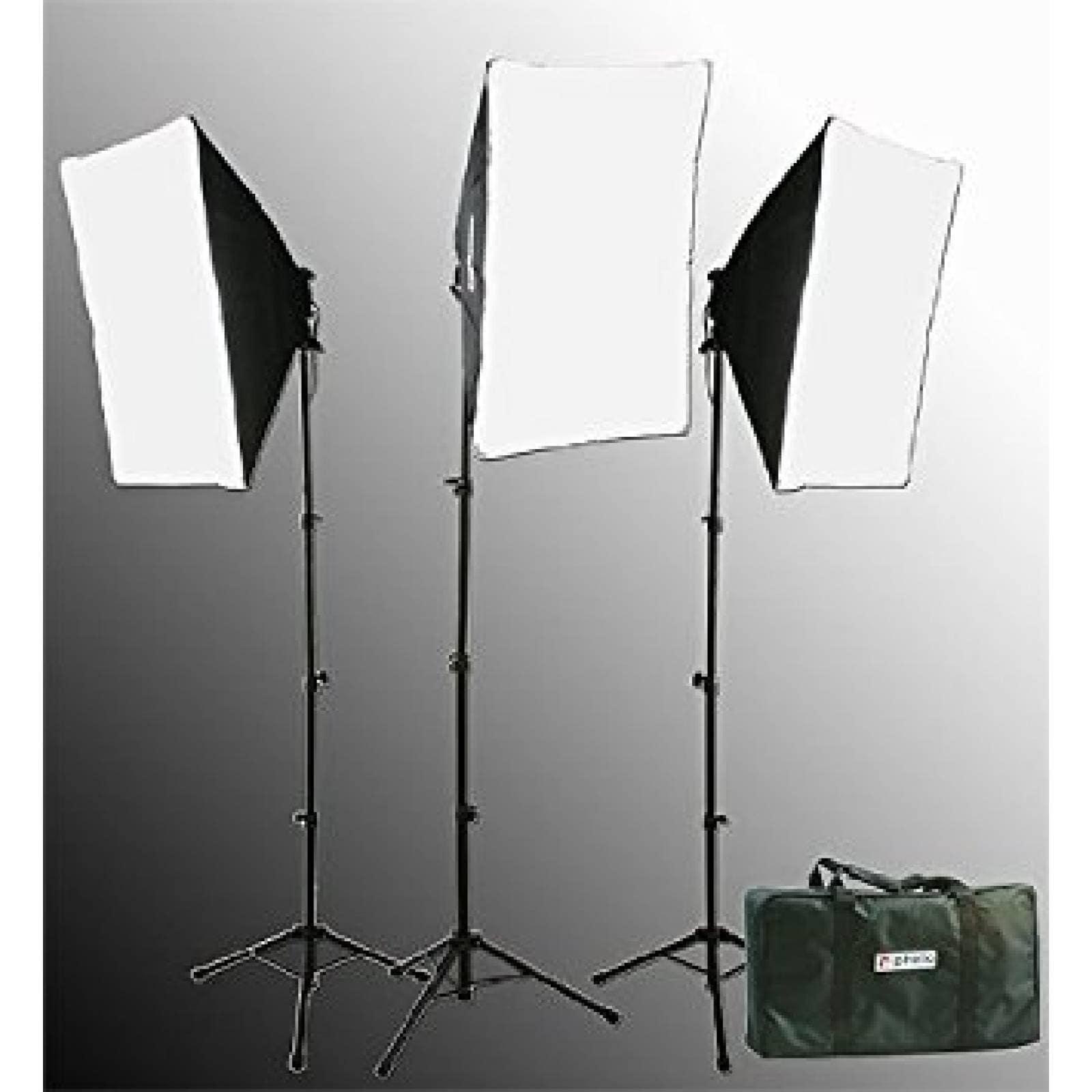 Fancierstudio 2400 Watts iluminación kit softbox kit  -Negro