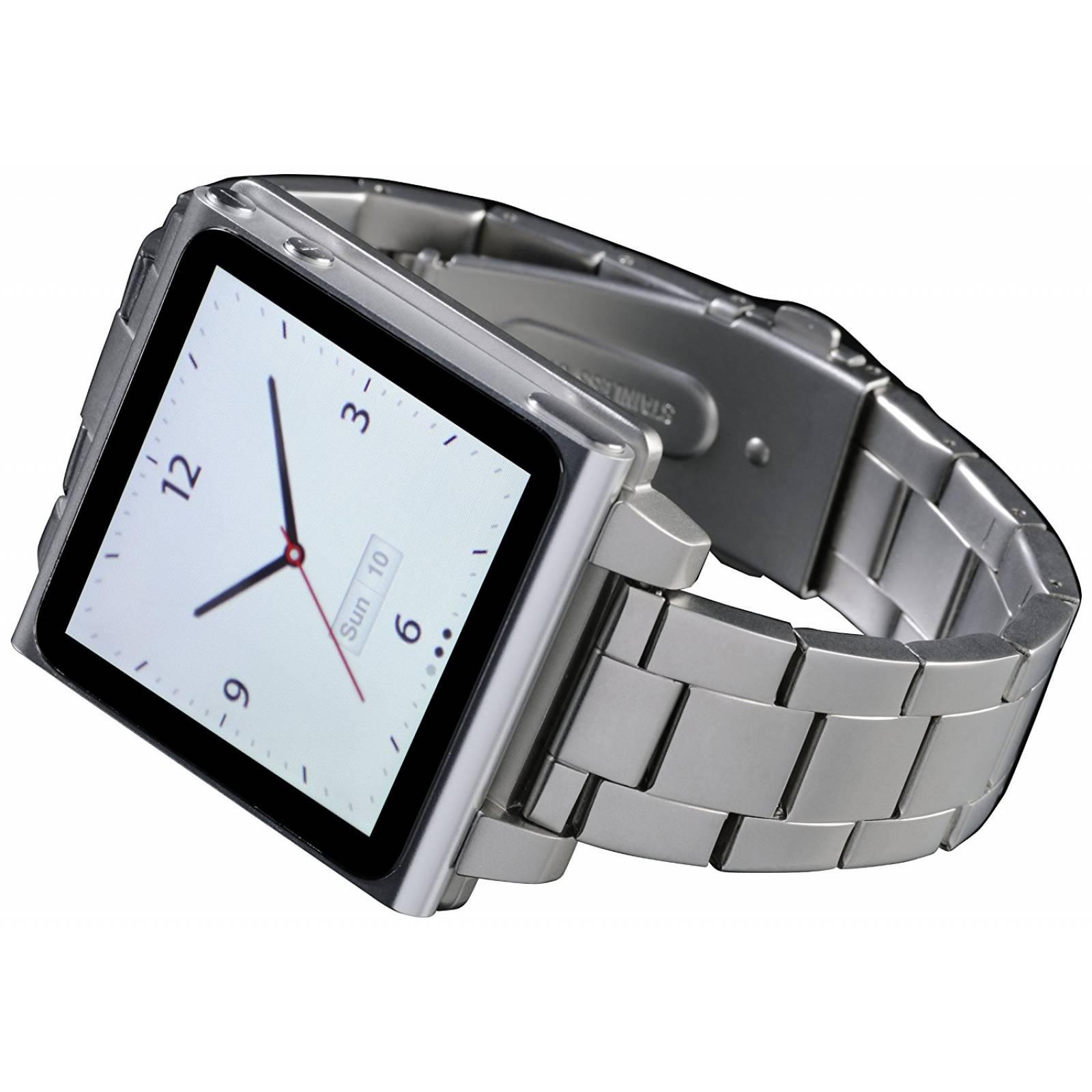 Correa Hex Tipo Reloj Para Apple Ipod Nano 6g Plateado