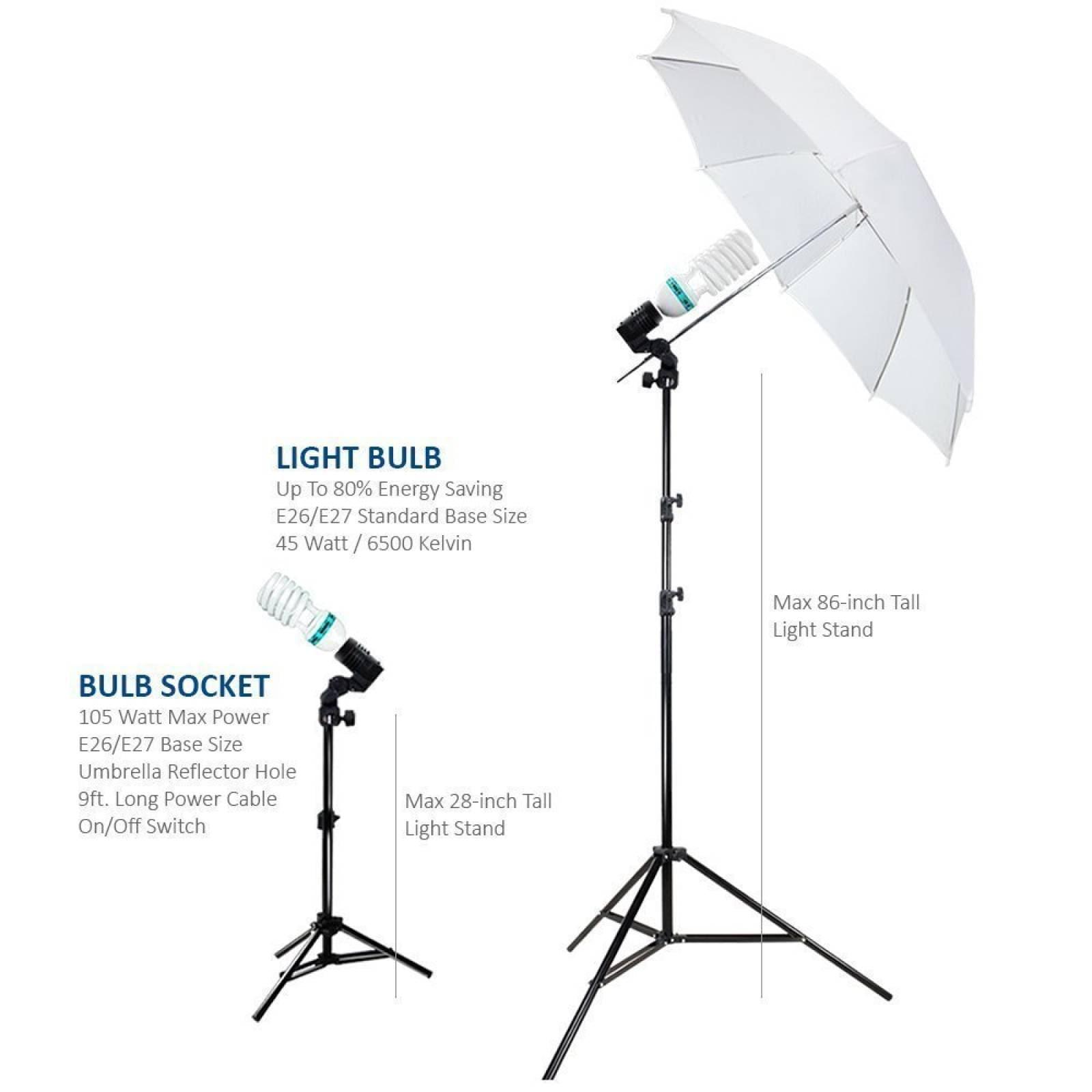 Fotografía Foto retrato estudio 600W día paraguas luz contin