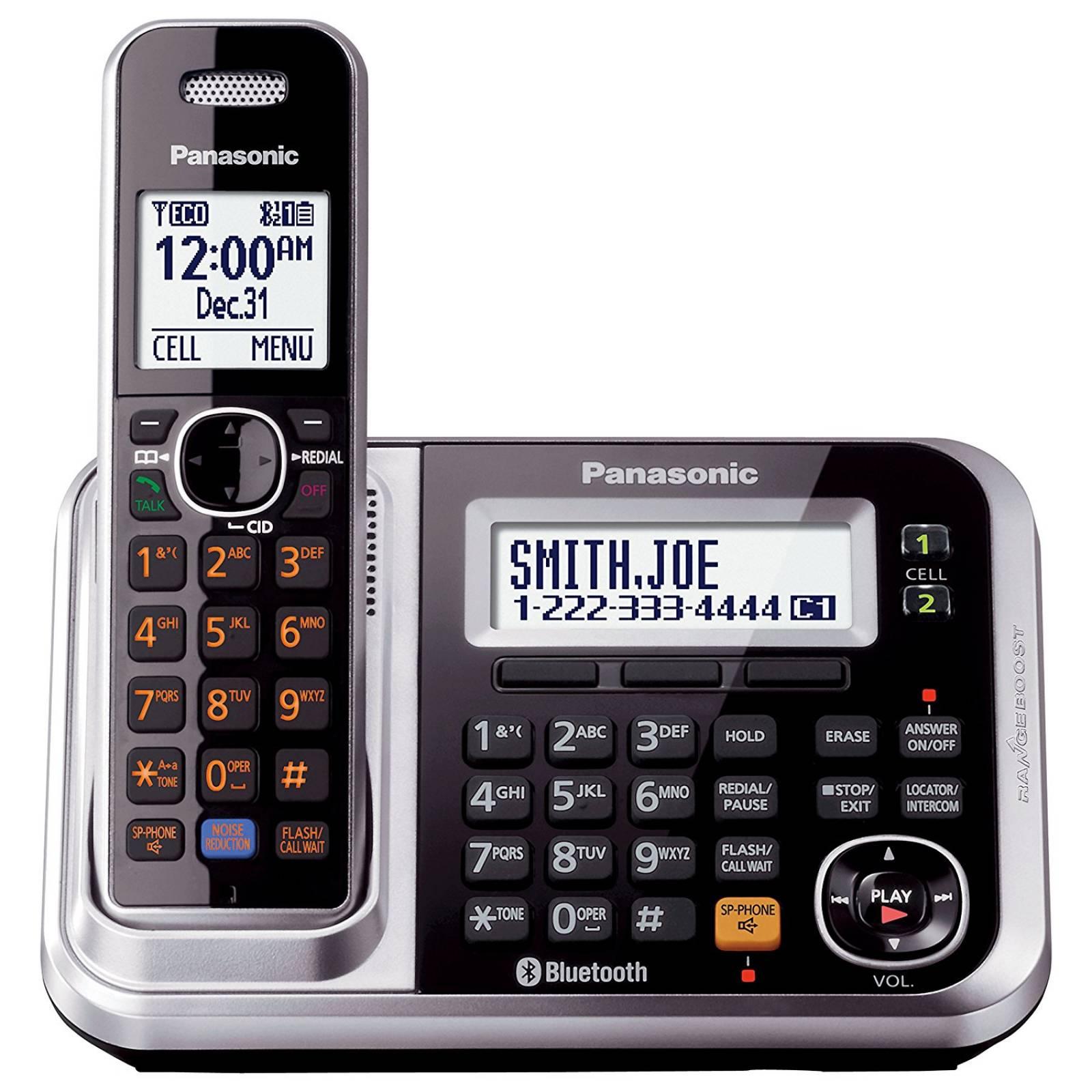 Teléfono inalámbrico Panasonic Link2Cell KX-TG7875S D -Negro