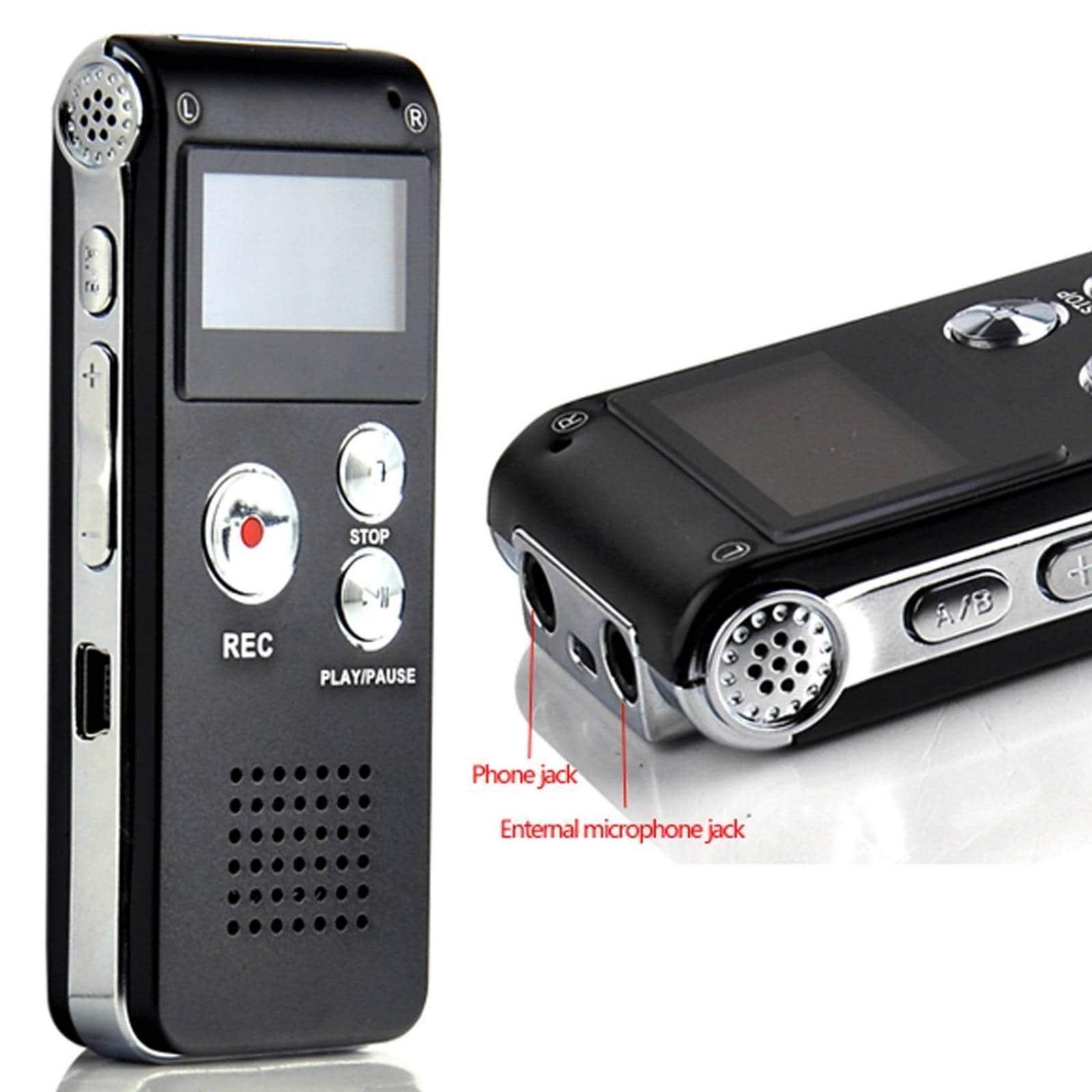 Aketek multifuncional recargable HR 650 8GB grabadora -Negro