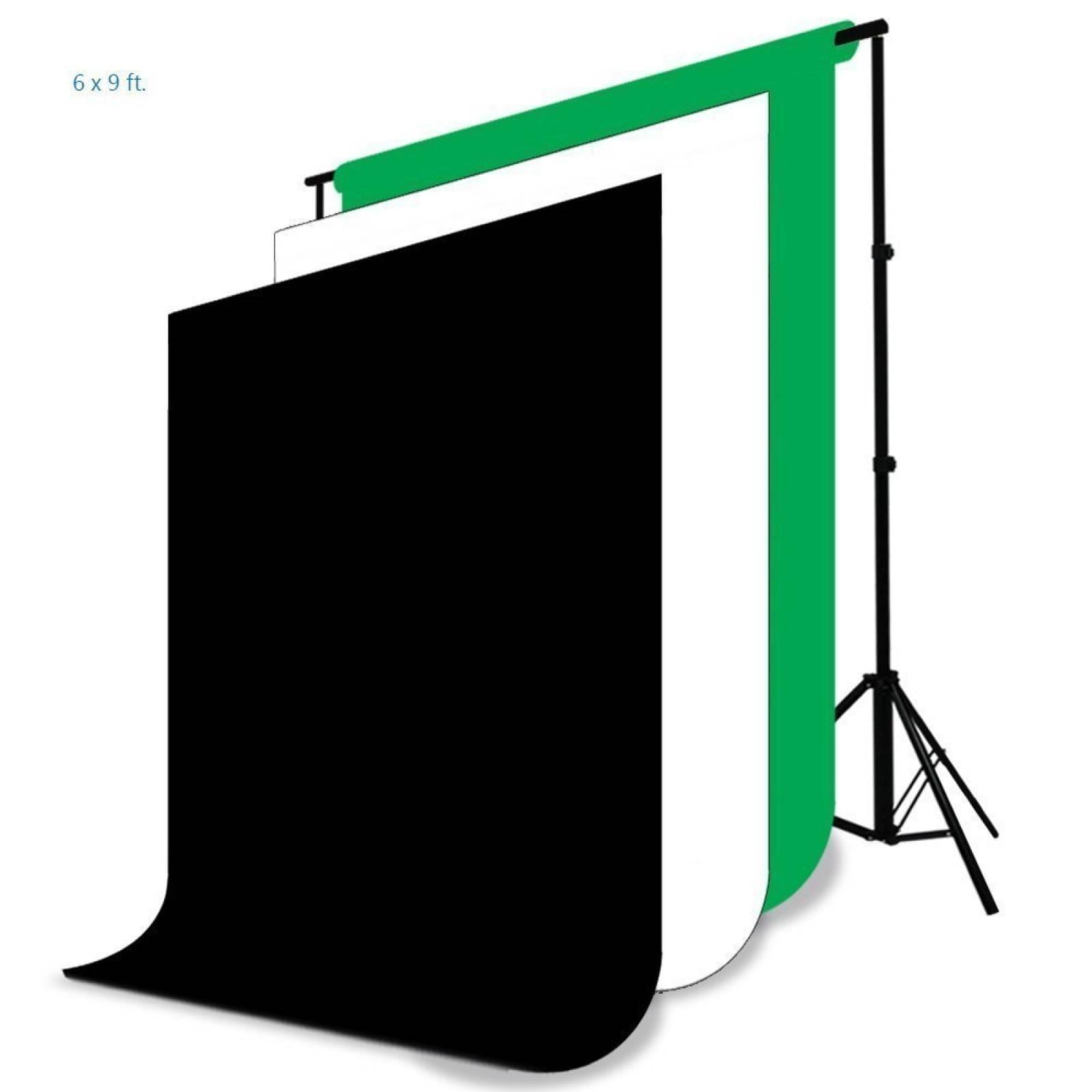 LimoStudio Foto Video Studio Kit luz - incluye Chroma -Negro