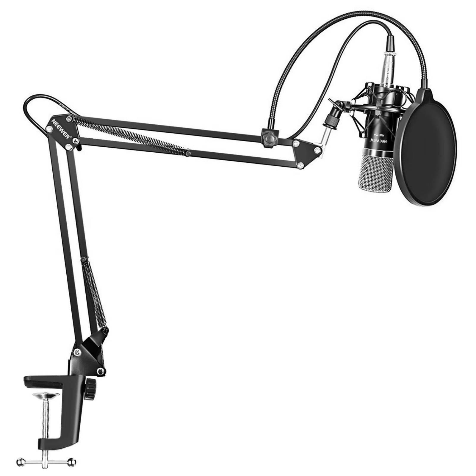 Microfono Prof Neewer NW-700 y Suspension Ajustable NW-35