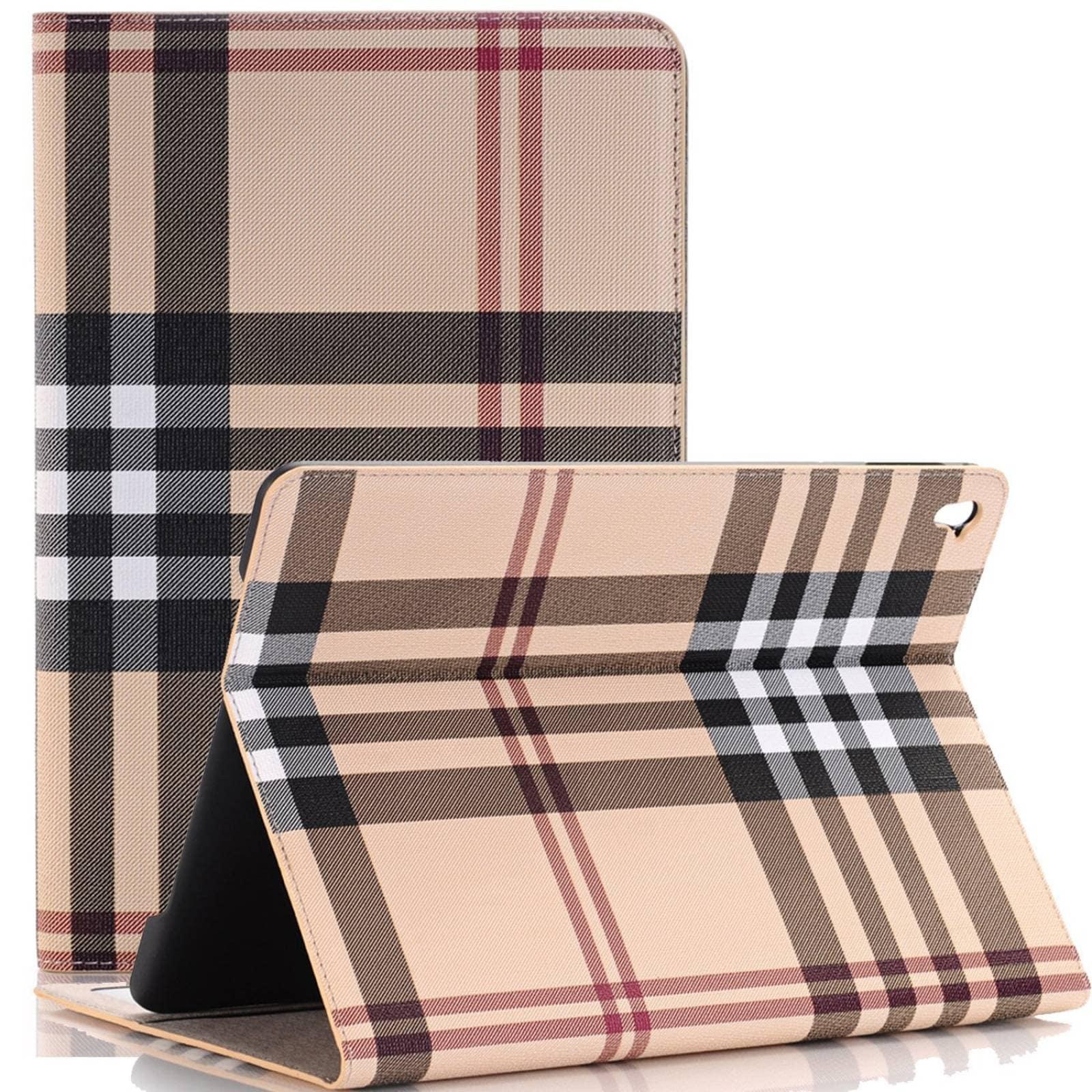 iPad Pro 9.7 cubierta funda XRPow rejilla patrón dis -Blanco
