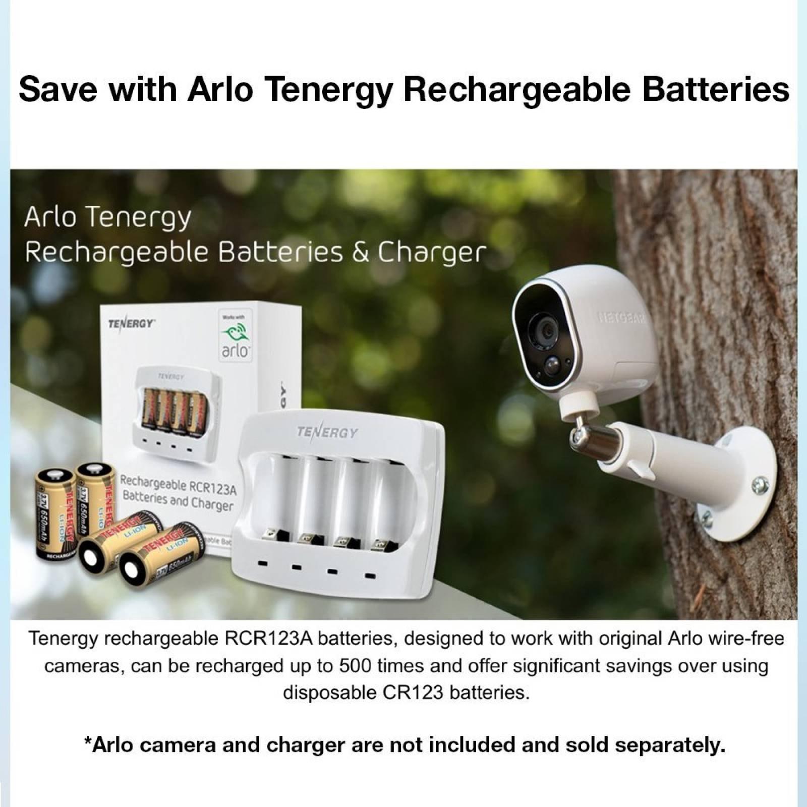 Tenergy 3.7V Li-ion recargable Arlo VMC30 cámaras seguridad