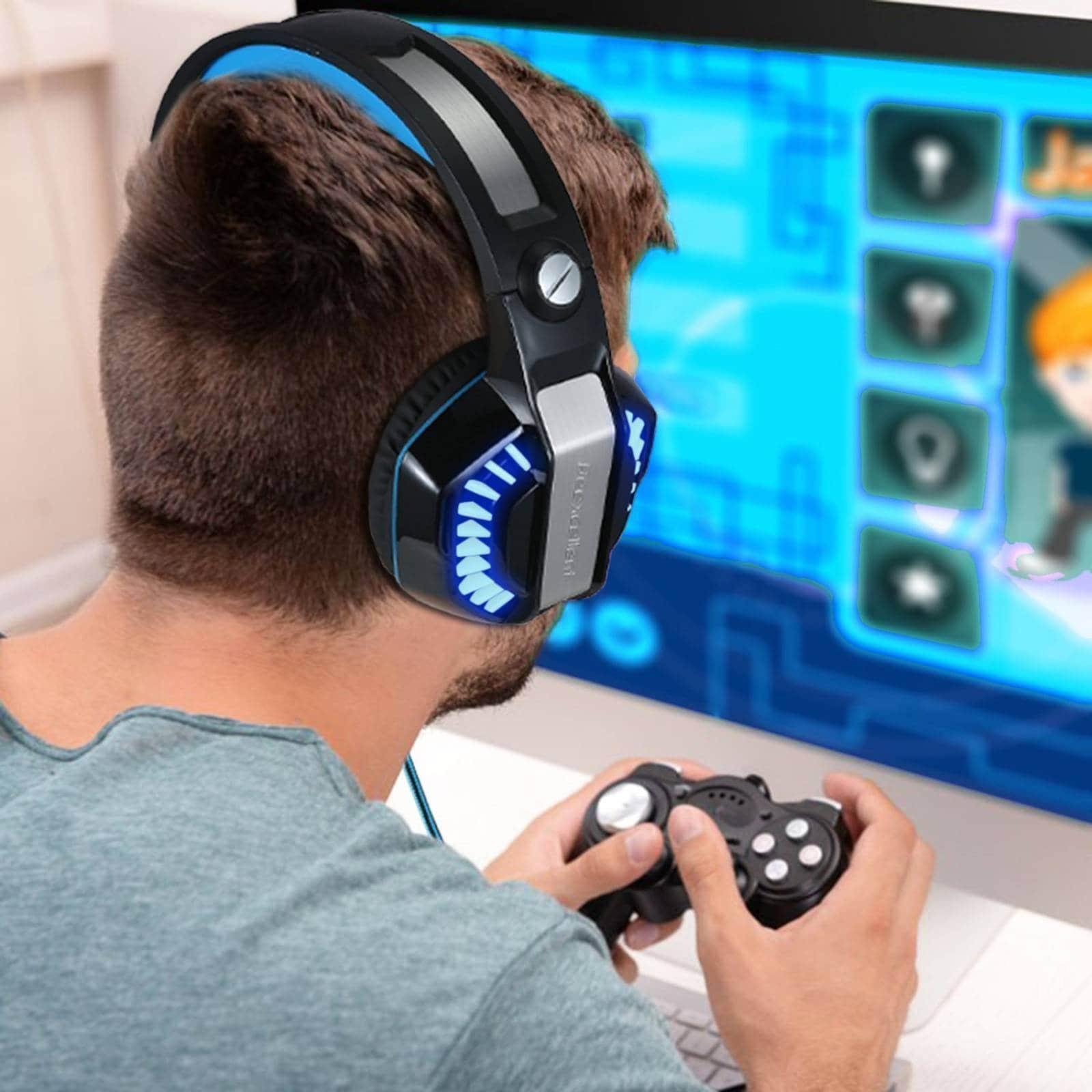 Diadema Gamer Beexcellent Stereo Mic Ps4 Xbox Pc -negro Azul