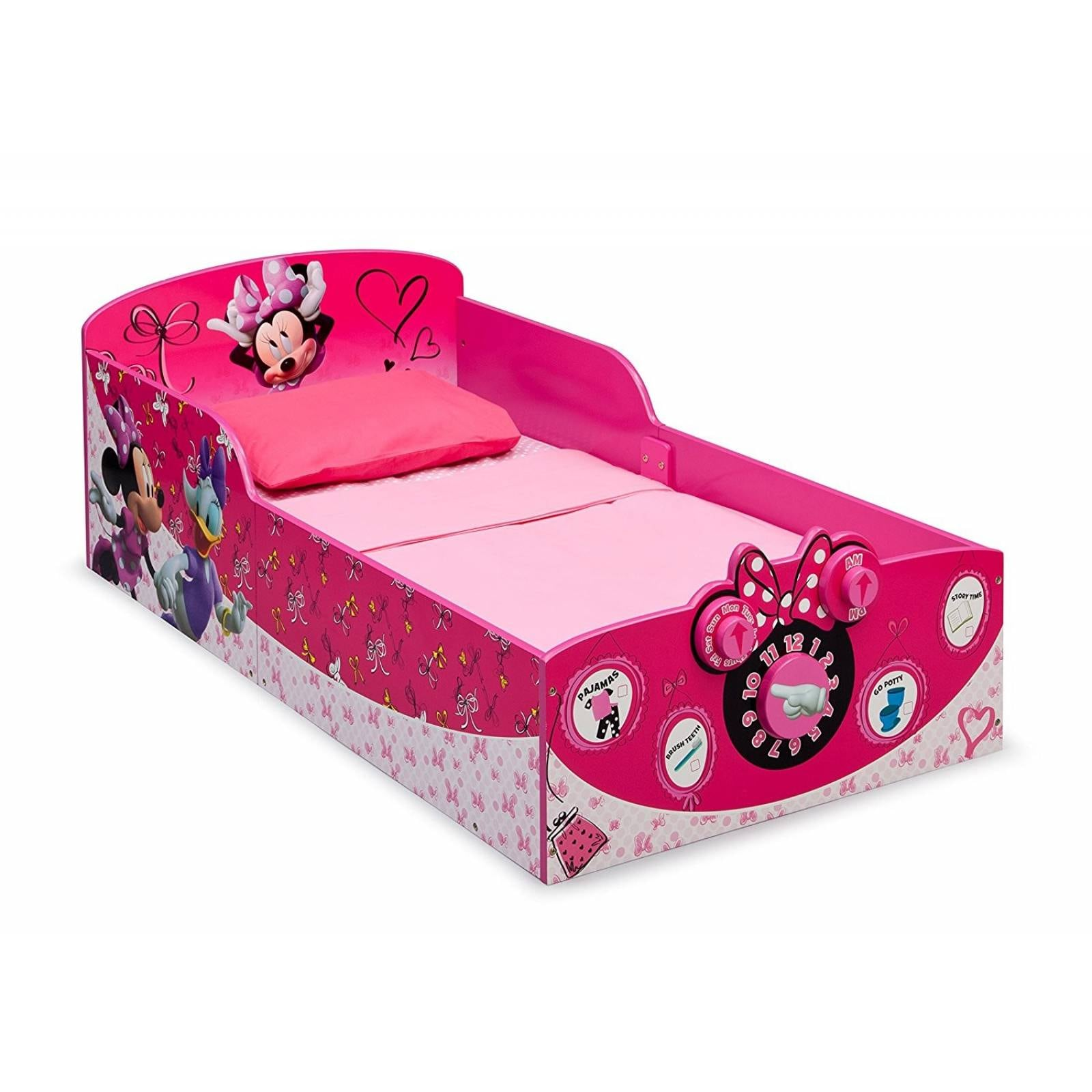 Cama Infantil Delta Children Minnie Mouse Hasta 22kg - Rosa