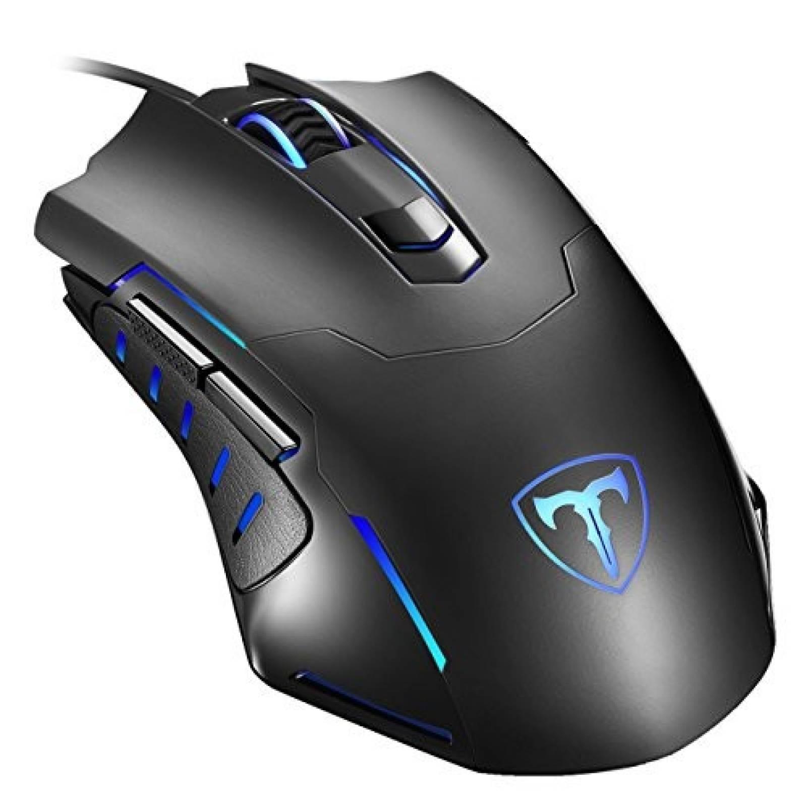 Mouse Gamer PICTEK 7200 DPI 3200DPI -Negro