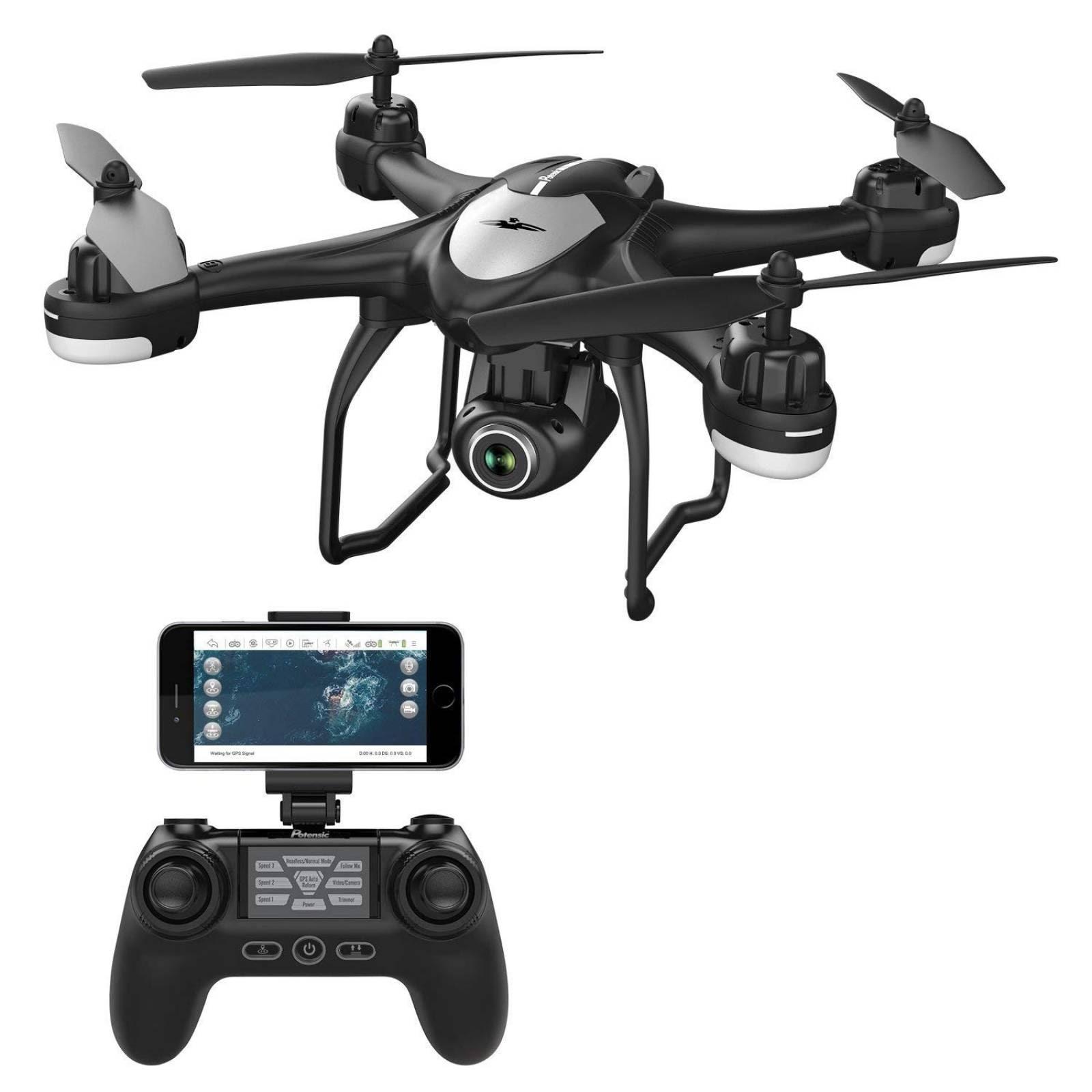 Drone cuadricóptero Potensic T18 GPS cámara 1080P HD WIFI -n
