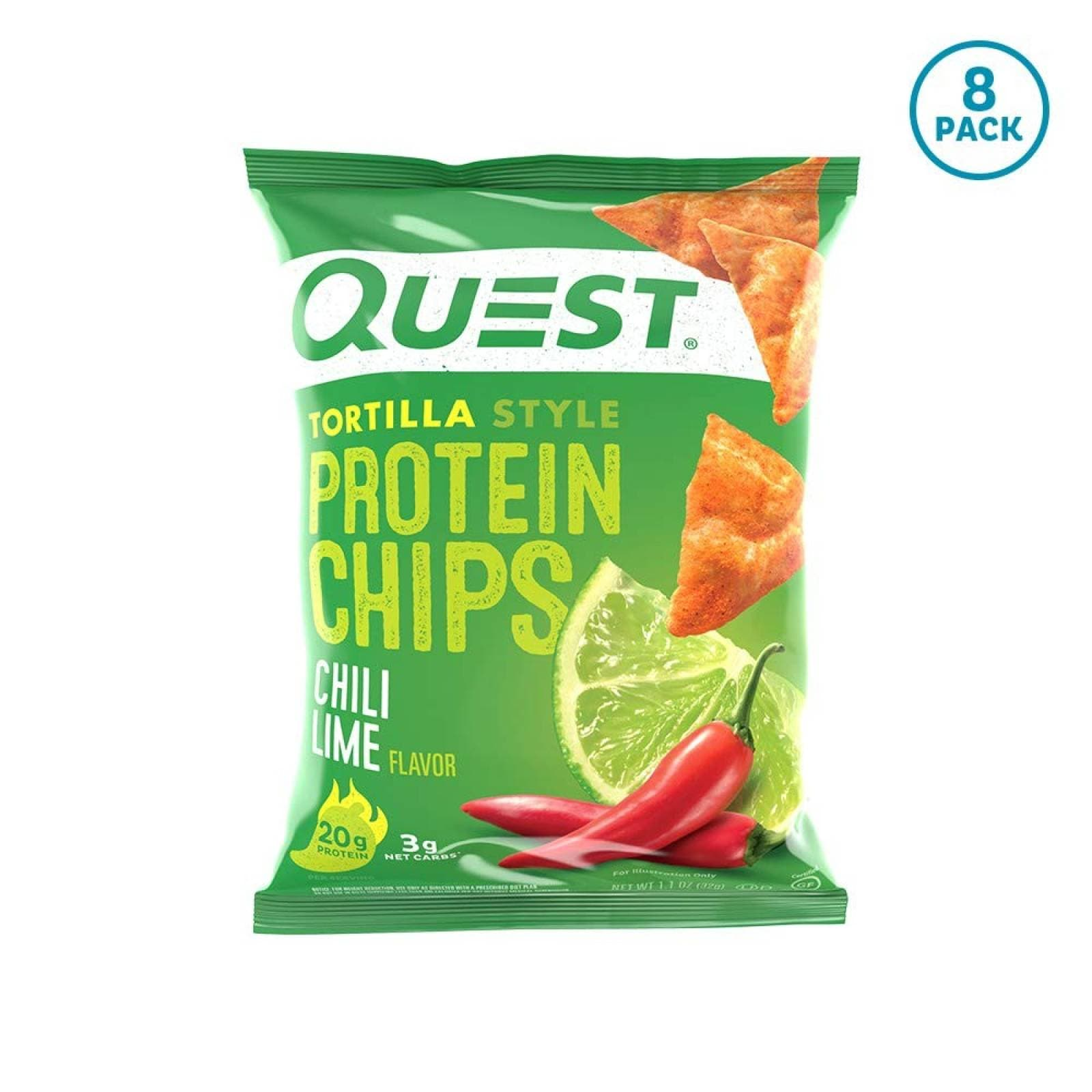 Chips Proteína Quest Nutrition Chile-Limón Tortilla -8 pzs