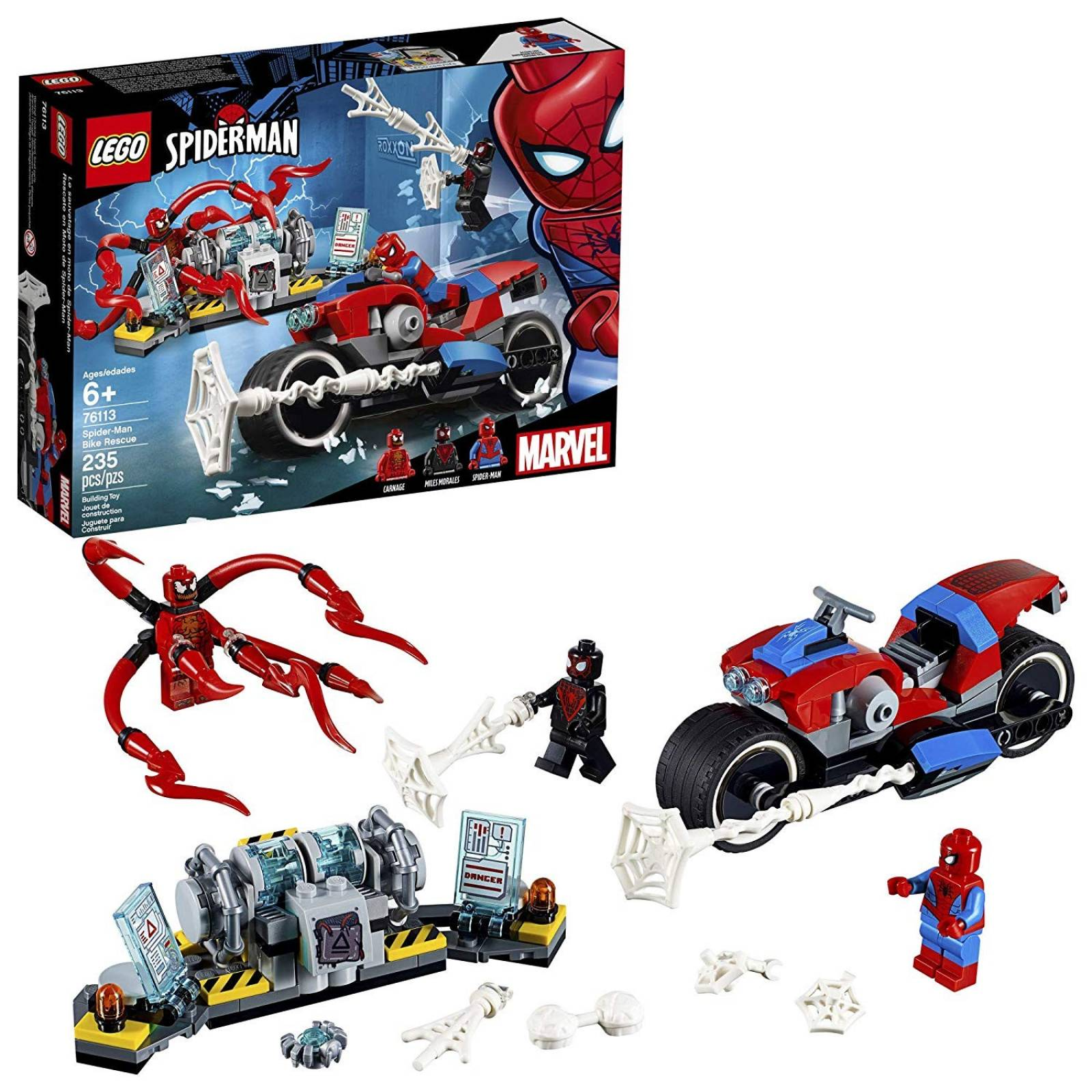 Juguete para construir LEGO 6251072 Spiderman Bike 235pzs