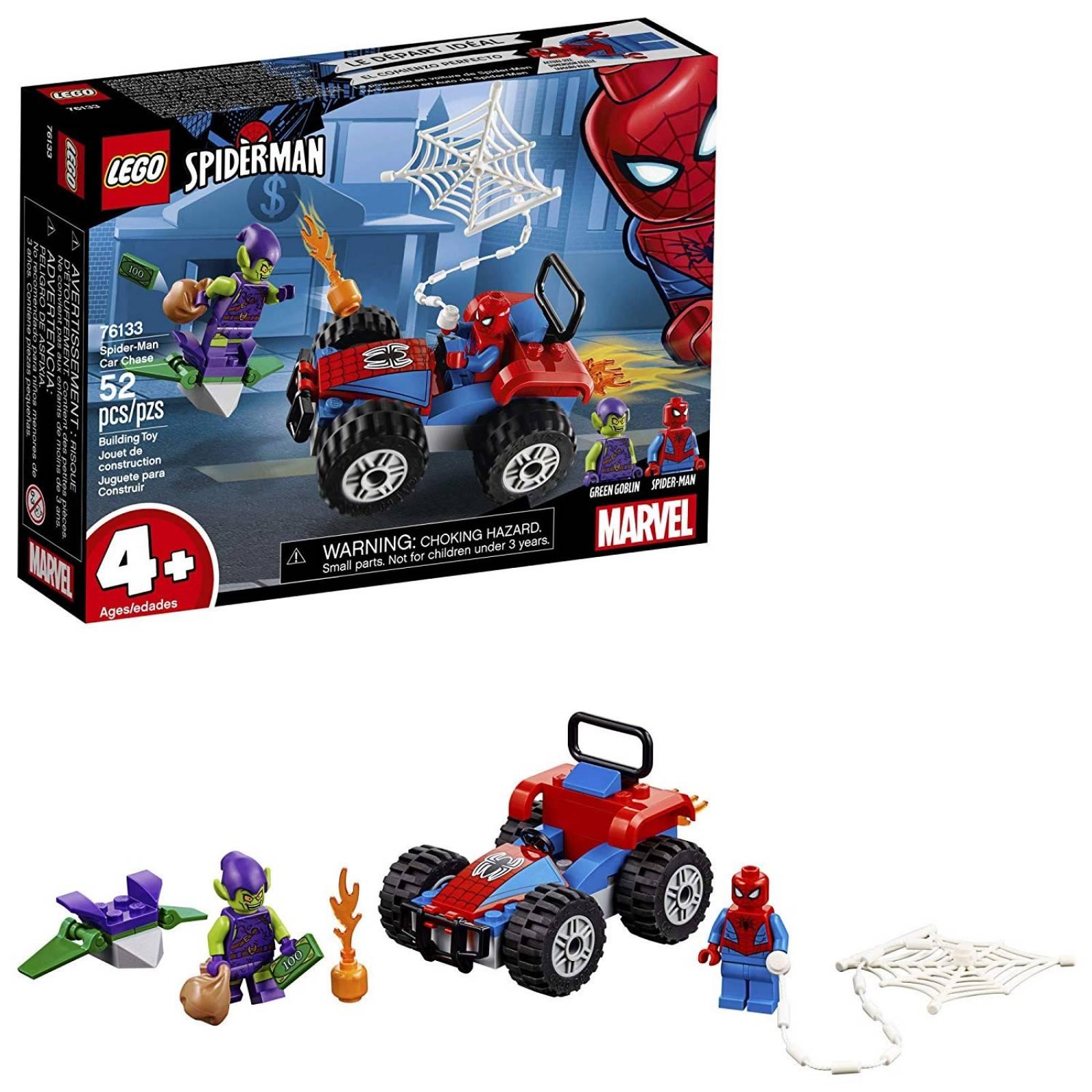 Juguete para construir LEGO 76133 Spiderman Car Chase 52 pzs