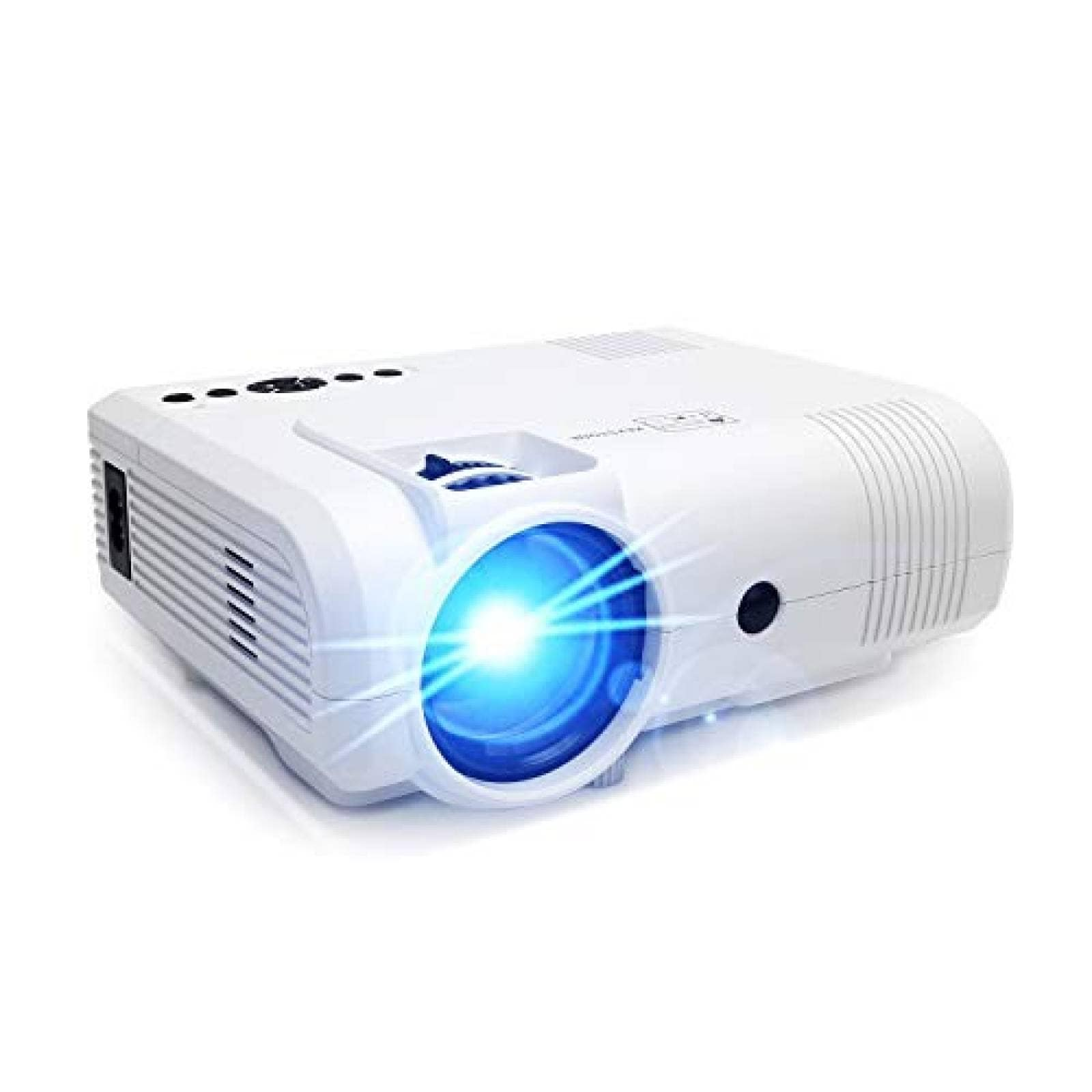 Proyector PoFun Mini portátil LED hasta 150'' Blanco