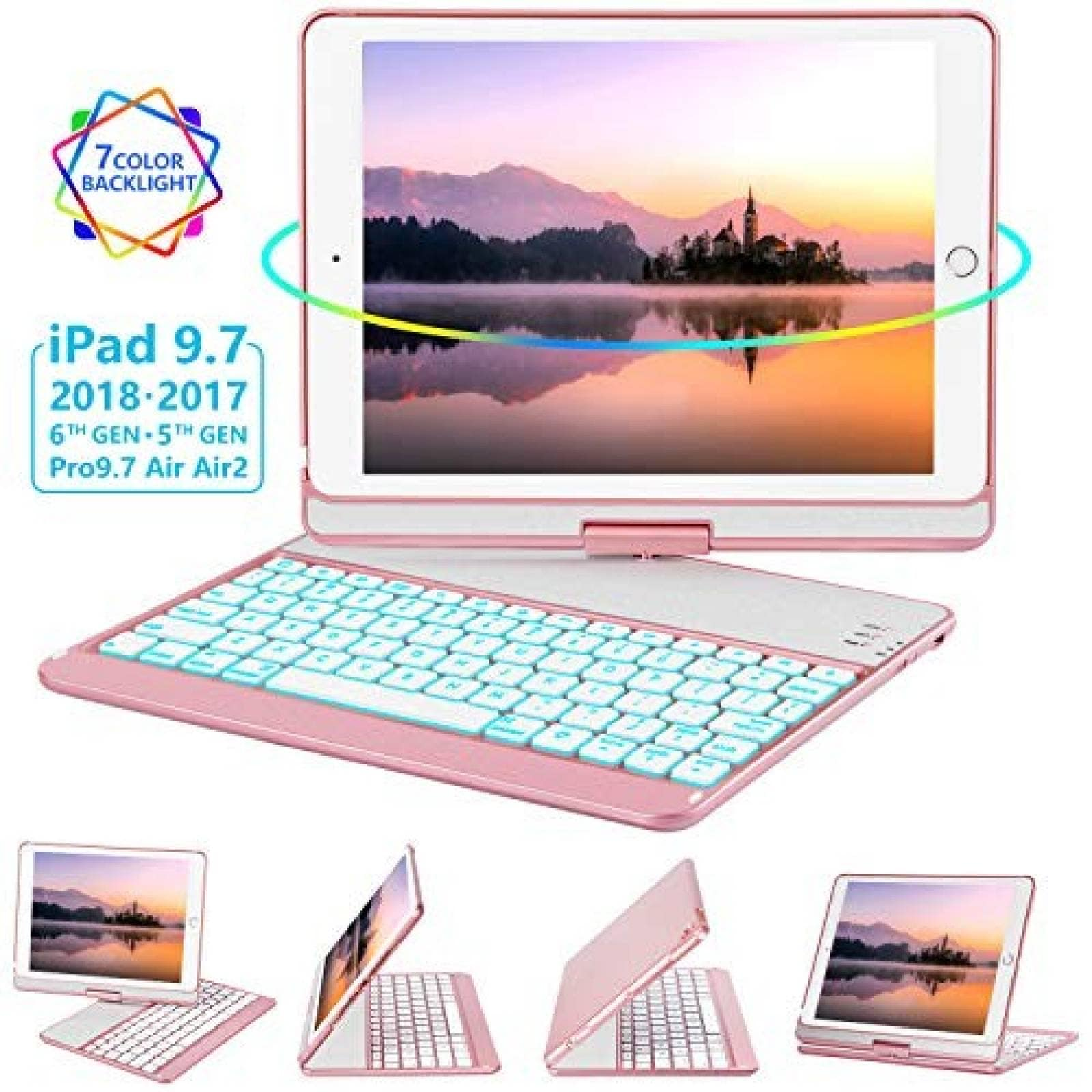 Funda con teclado GreenLaw para iPad Pro de 9.7'' -Oro rosa