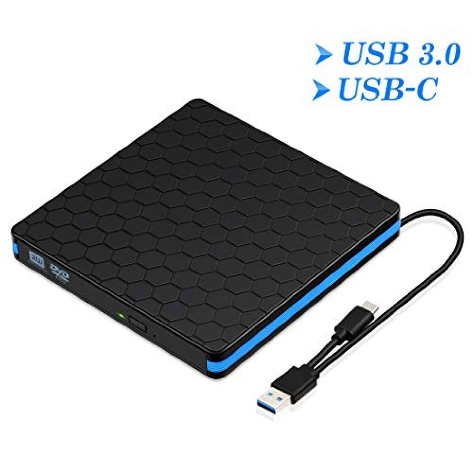 Unidad de DVD exterma kingbox USB 3.0 tipo C -Negro
