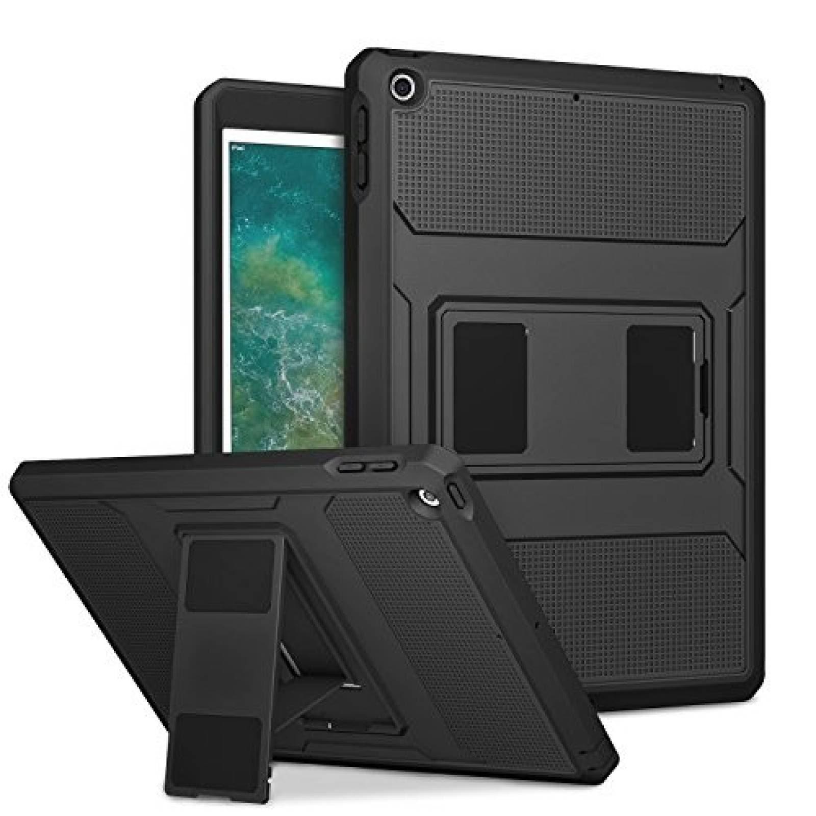 Funda MoKo para iPad 5 6 gen uso rudo Negro