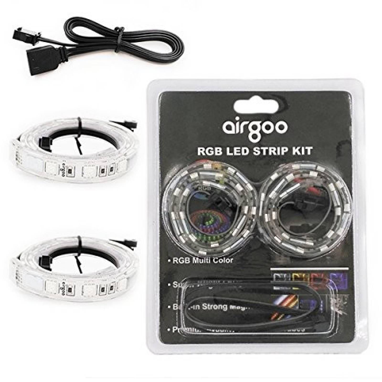 Kit de 2 Tiras Luces LED 12V Magnética RGB Compatible