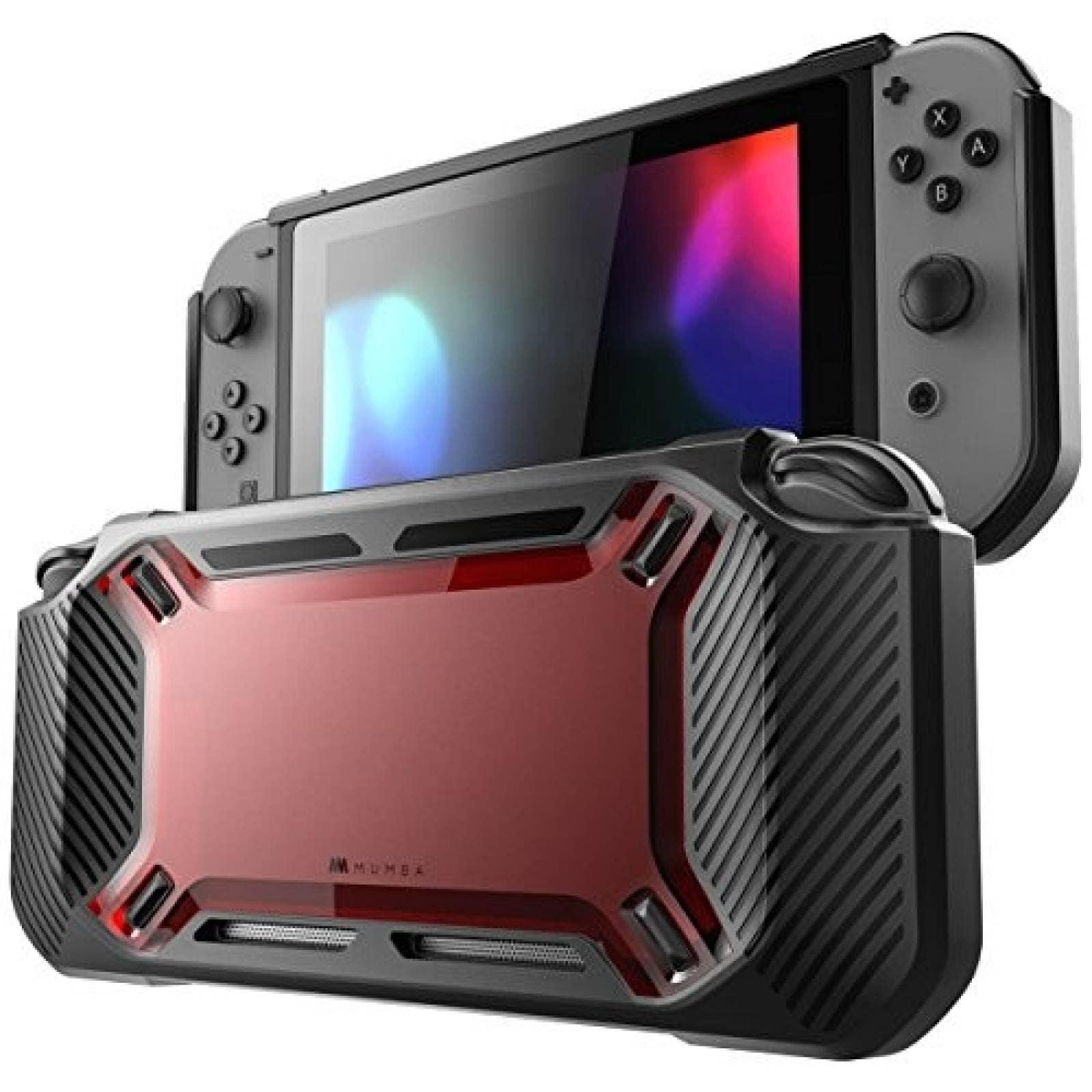 Carcasa Mumba Nintendo Switch 2017 delgada resistente -Rojo