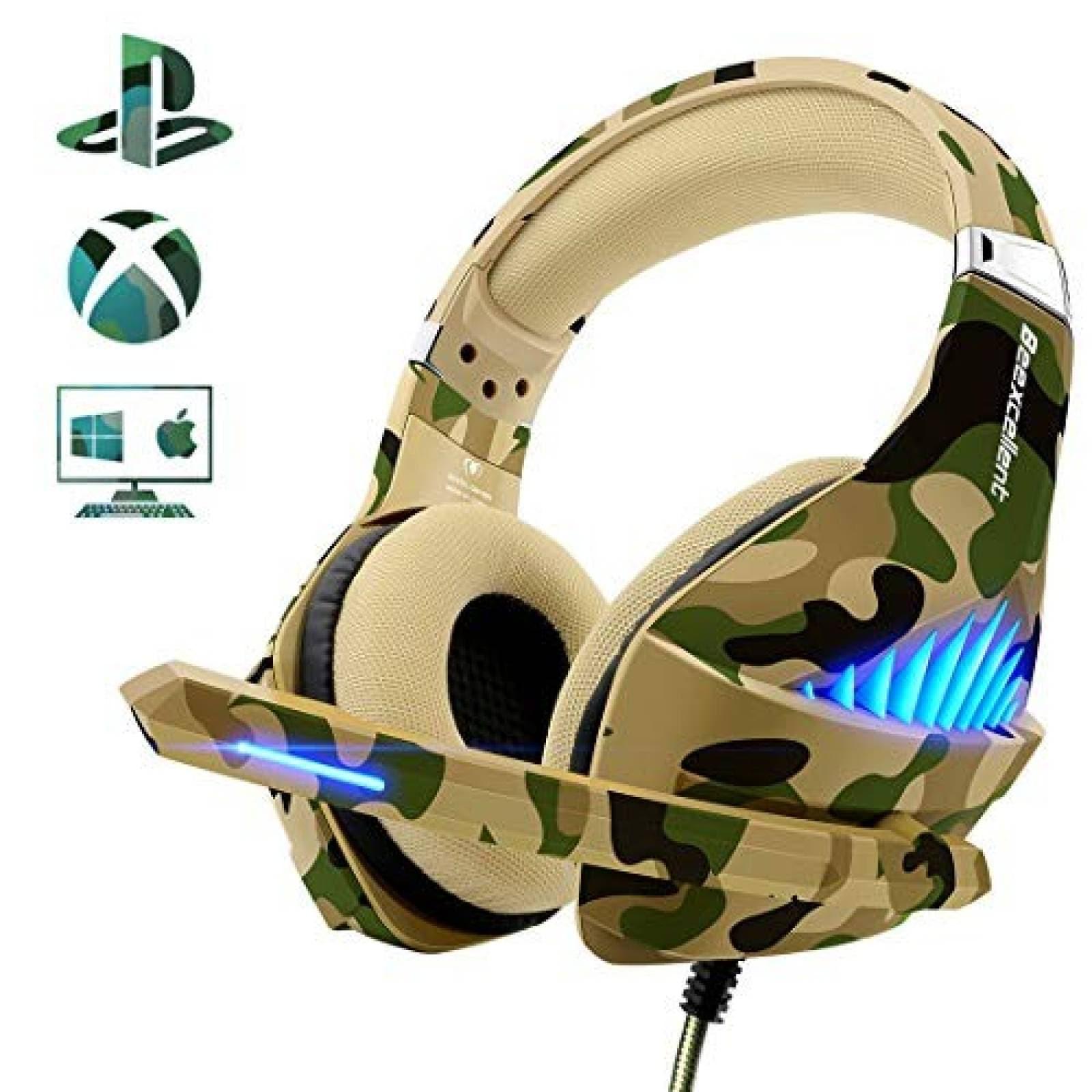 Audífonos gamer Beexcellent PS4 Xbox One -Café
