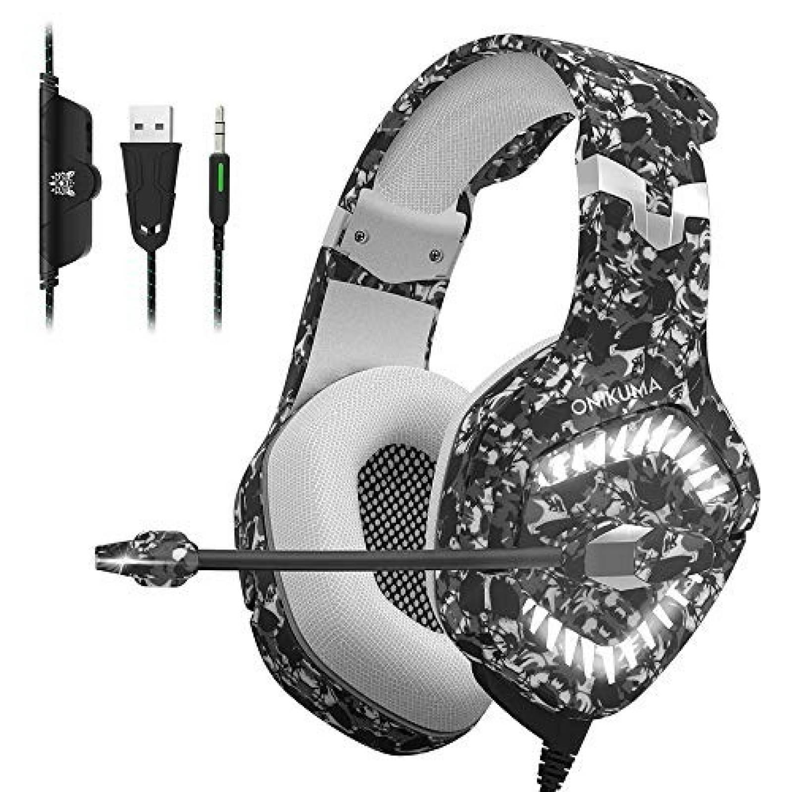 Audifonos Gamer Con Microfono Para Ps4 Xbox Pc Switch Conector 3.5 Mm