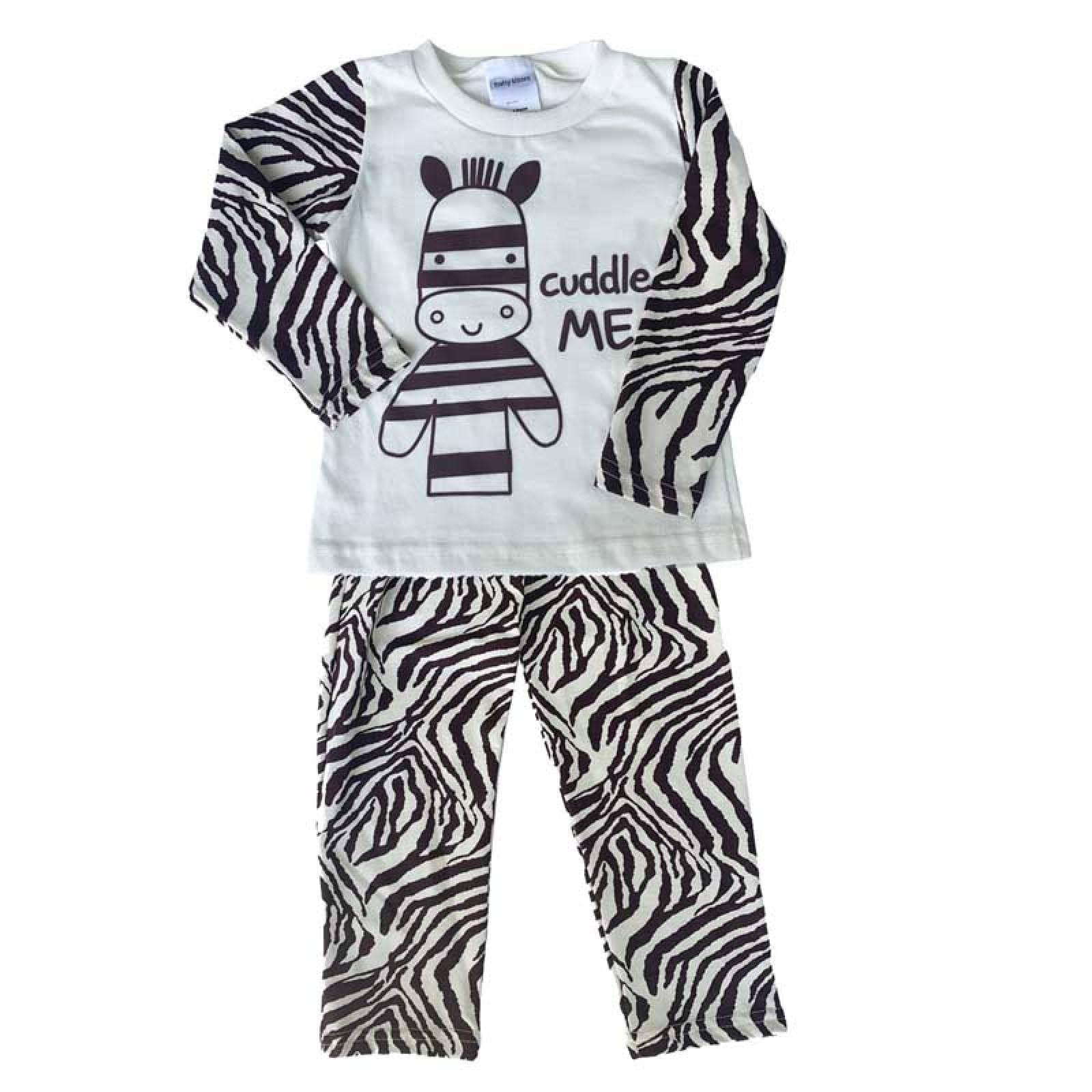 Paquete 2 Pijamas Algodon Con Pantalon Estampados Cebra Catarina