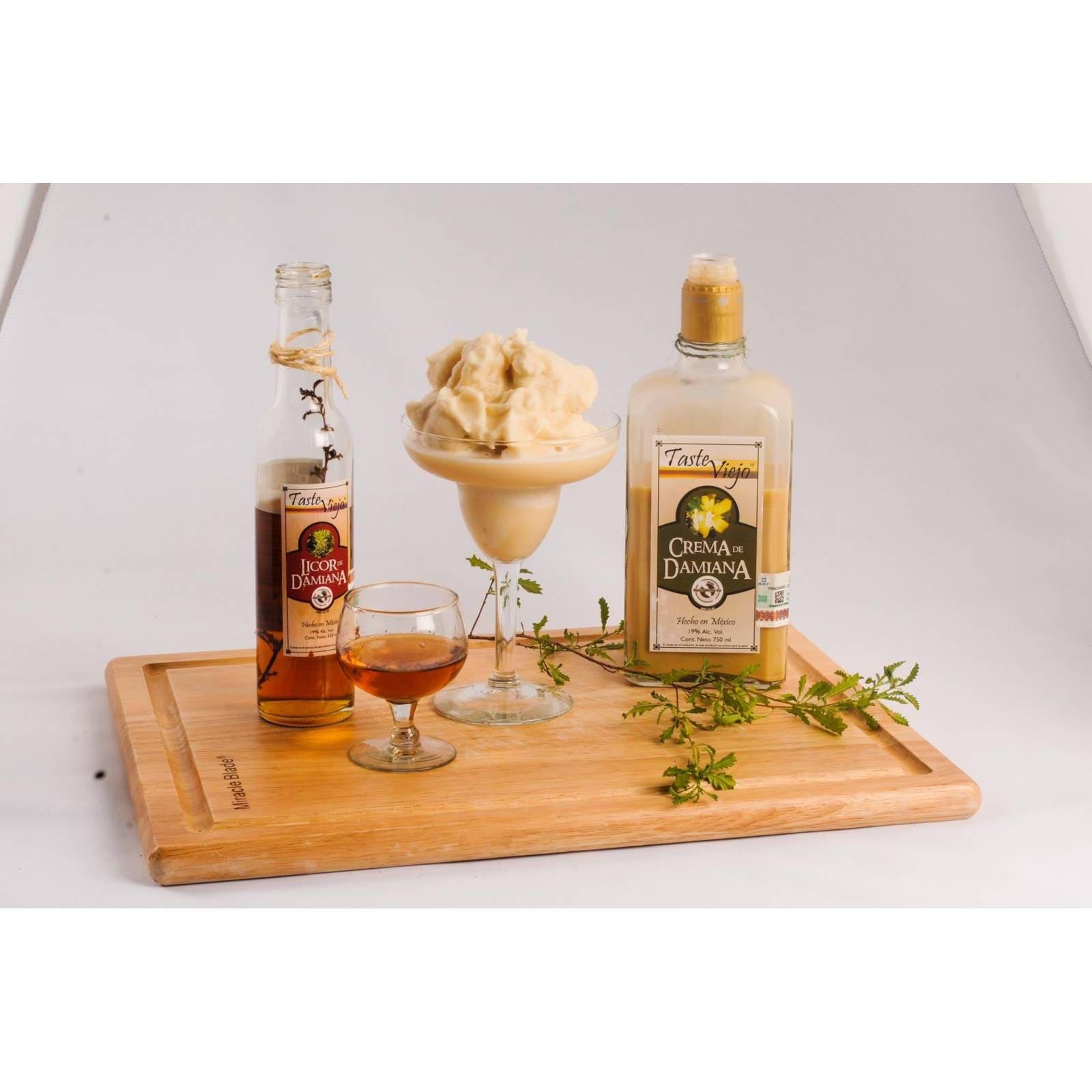 Crema De Damiana Artesanal Gourmet De Baja California Sur 750 ml