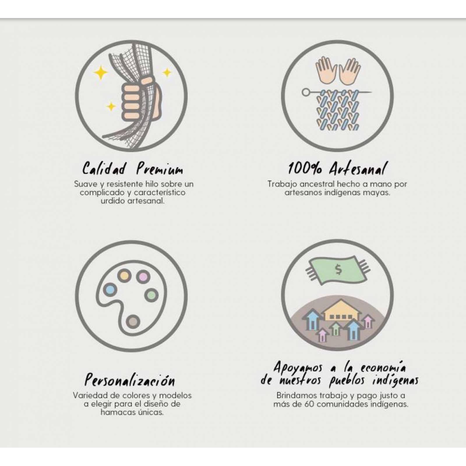 Hamaca Maya 100% Artesanal Calidad Premium Varios Colores Para Dos