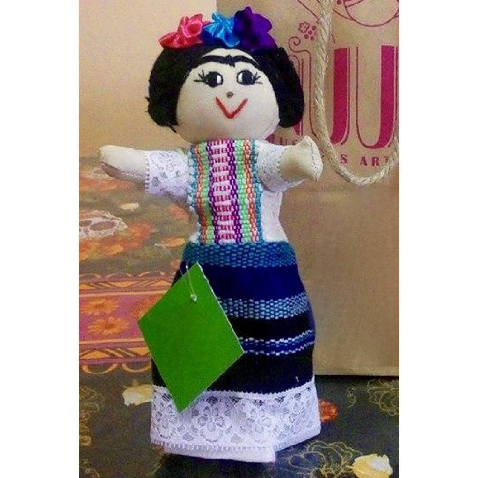 "Muñeca Artesanal De Tela "" Frida, Mujer Con Carácter"""