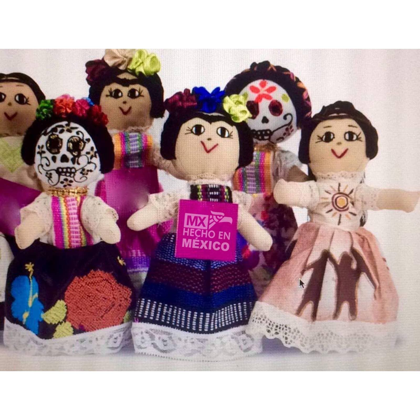 "Muñeca Artesanal De Tela "" Catrina"""