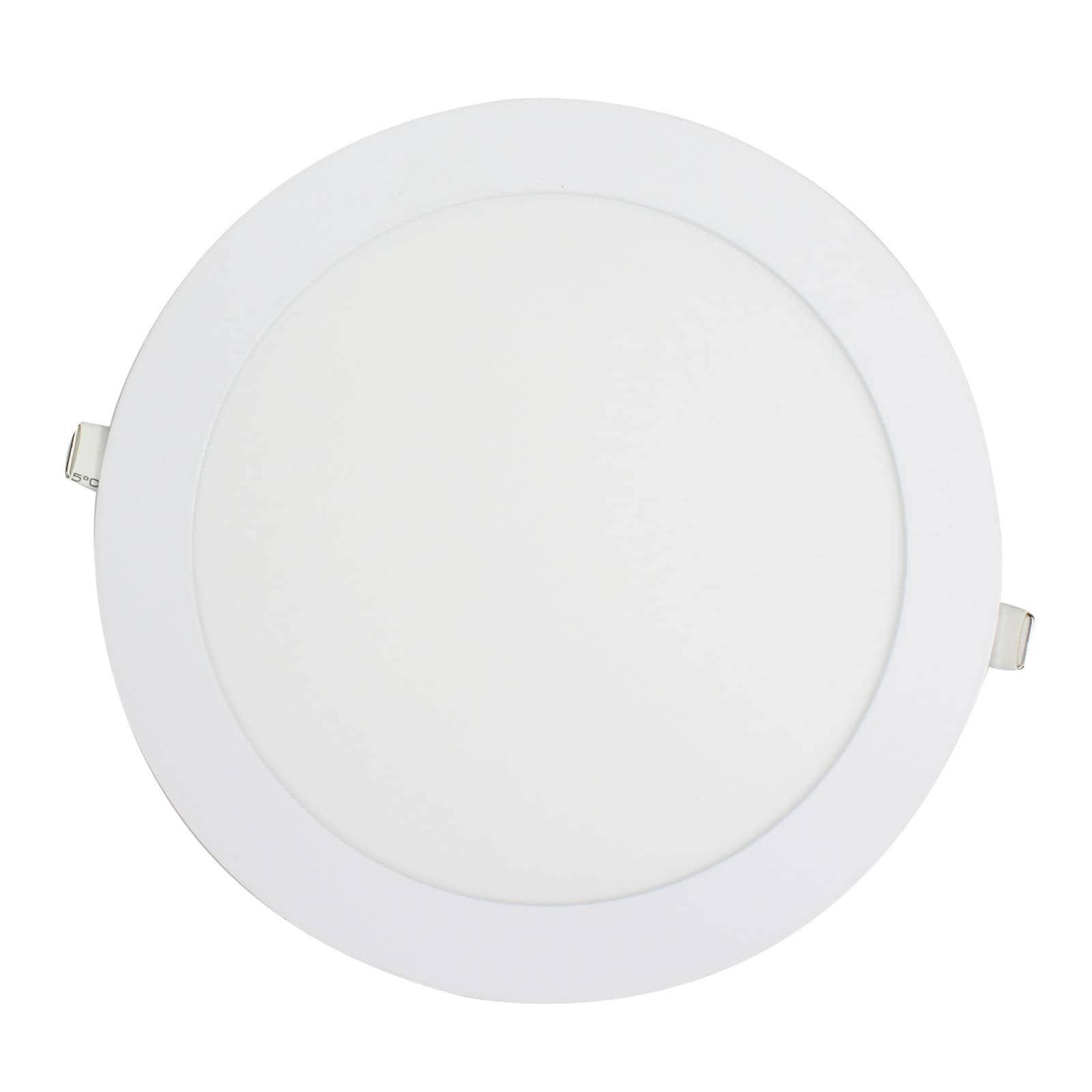 Lámpara Circular para Empotrar 18w Luz Fria Sanelec 1257