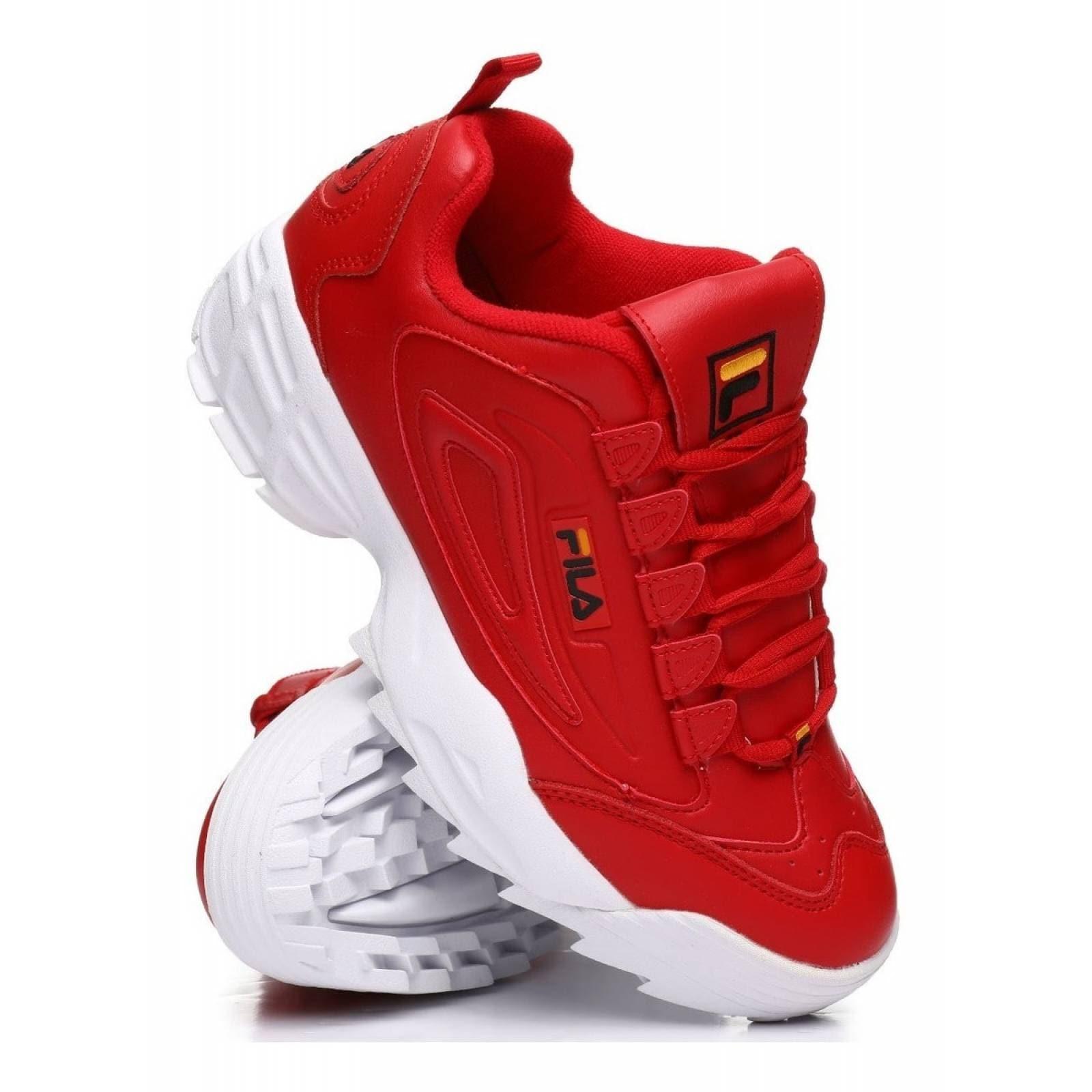 Tenis Fila rojo Disruptor 3
