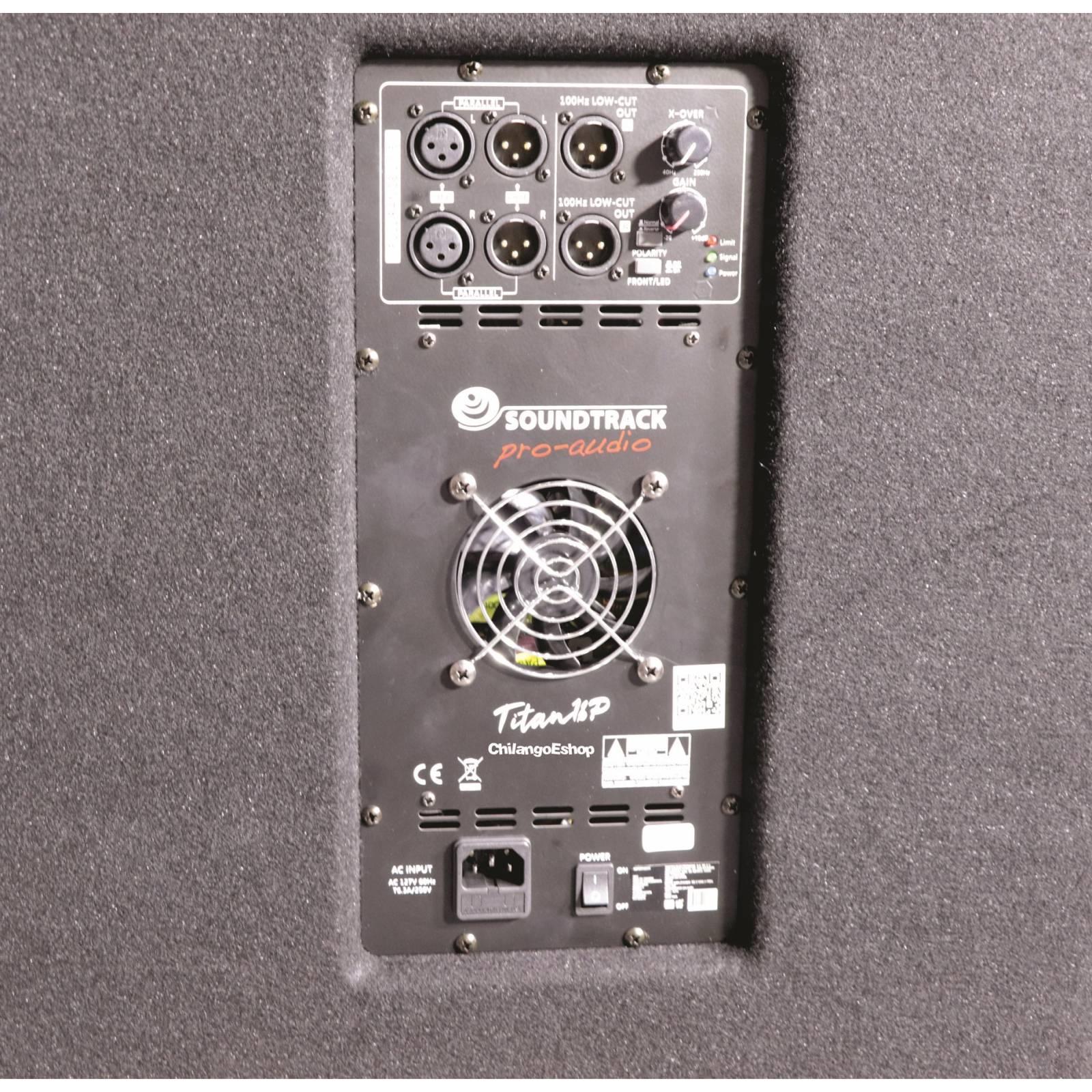 SUBWOOFER 18 AMPLIFICADO SOUNDTRACK TITAN 18P