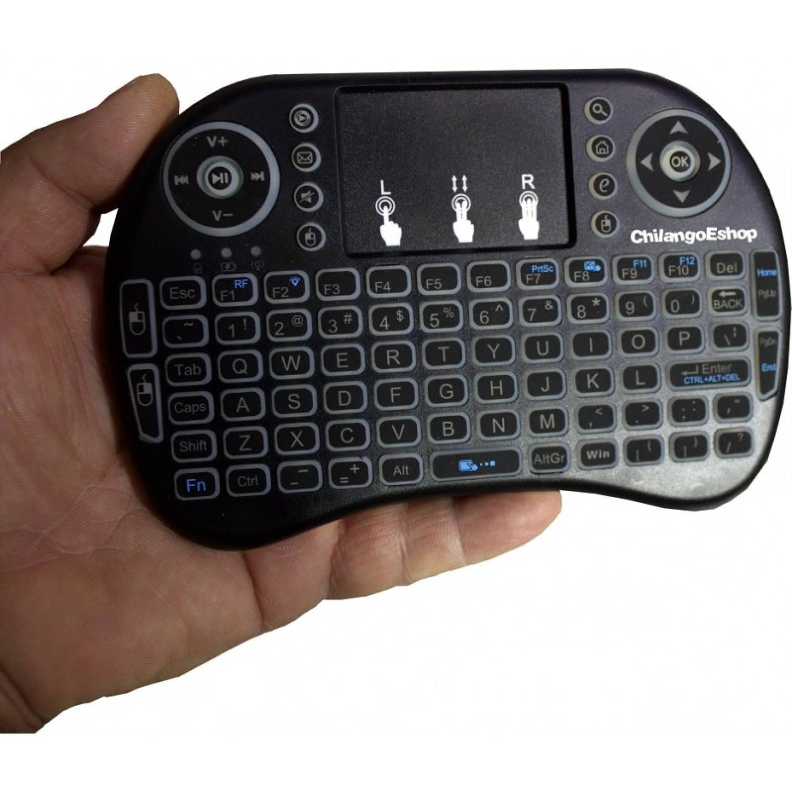 TECLADO INALAMBRICO RECARGABLE PARA SMARTH TV USB TOUCH PAD